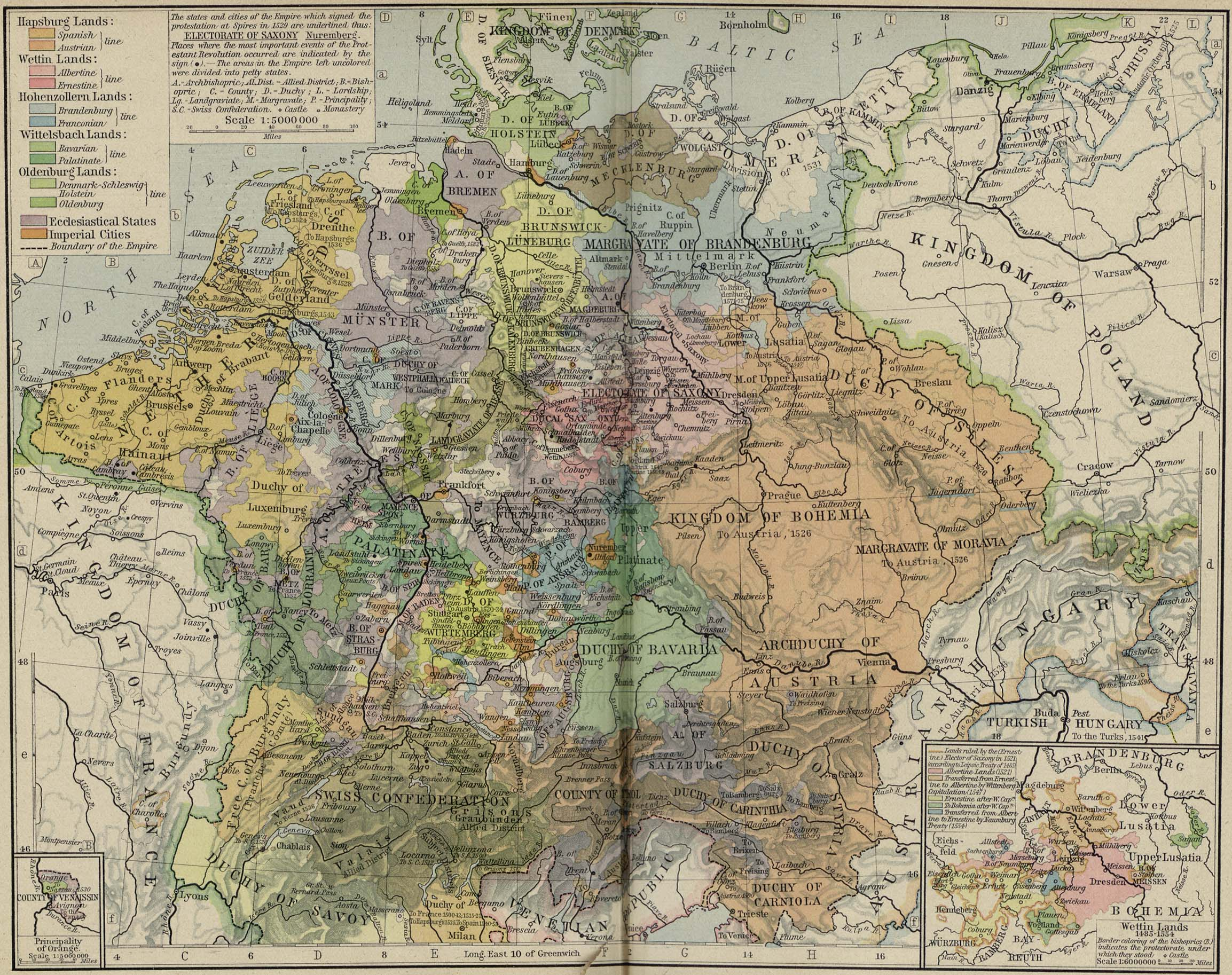 Central Europe Political Map.Whkmla Historical Atlas Europe 1500 1815