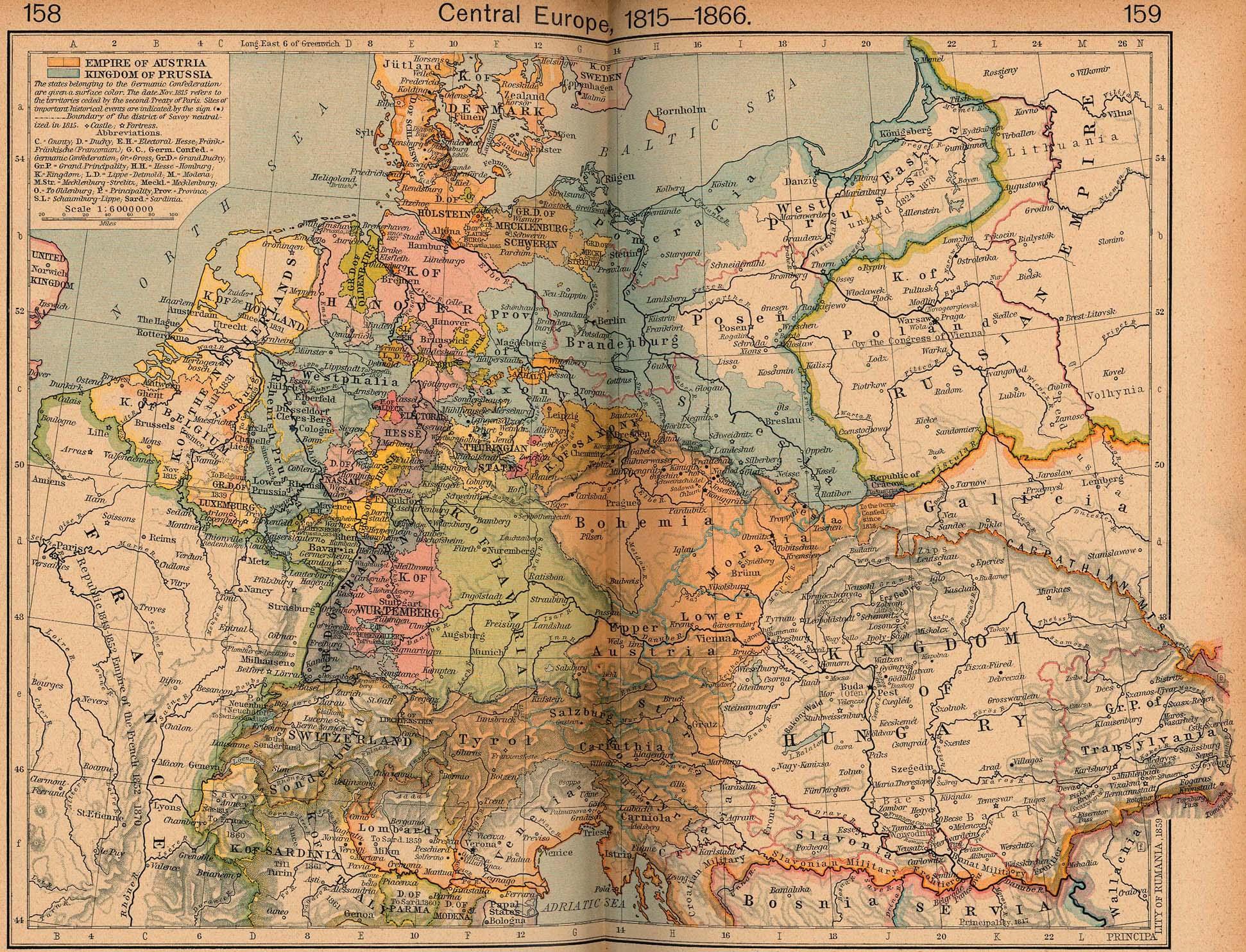 Map Of Germany Pre Unification.Shepherd S Historical Atlas Batesline