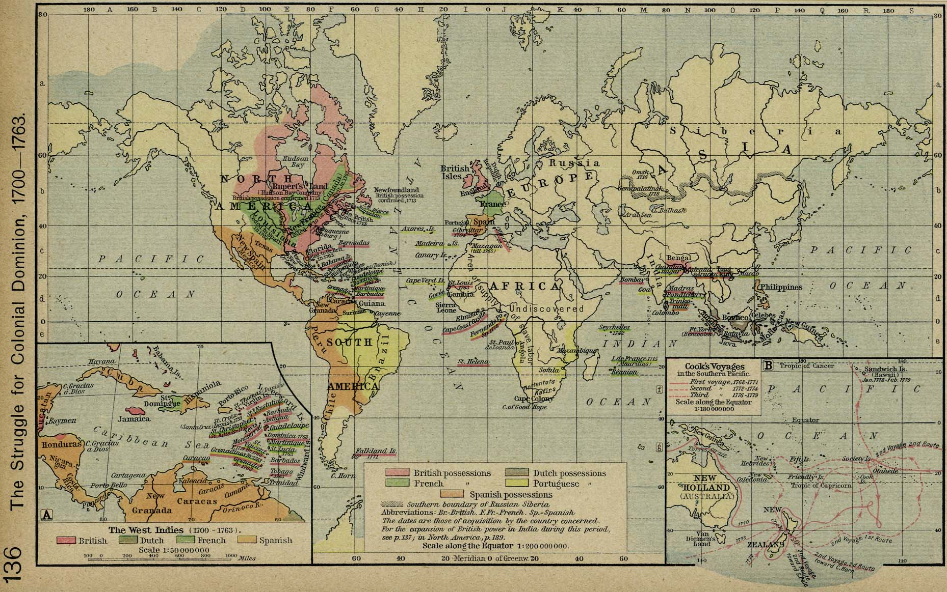 World Historical Maps PerryCastañeda Map Collection UT - Us map 1700
