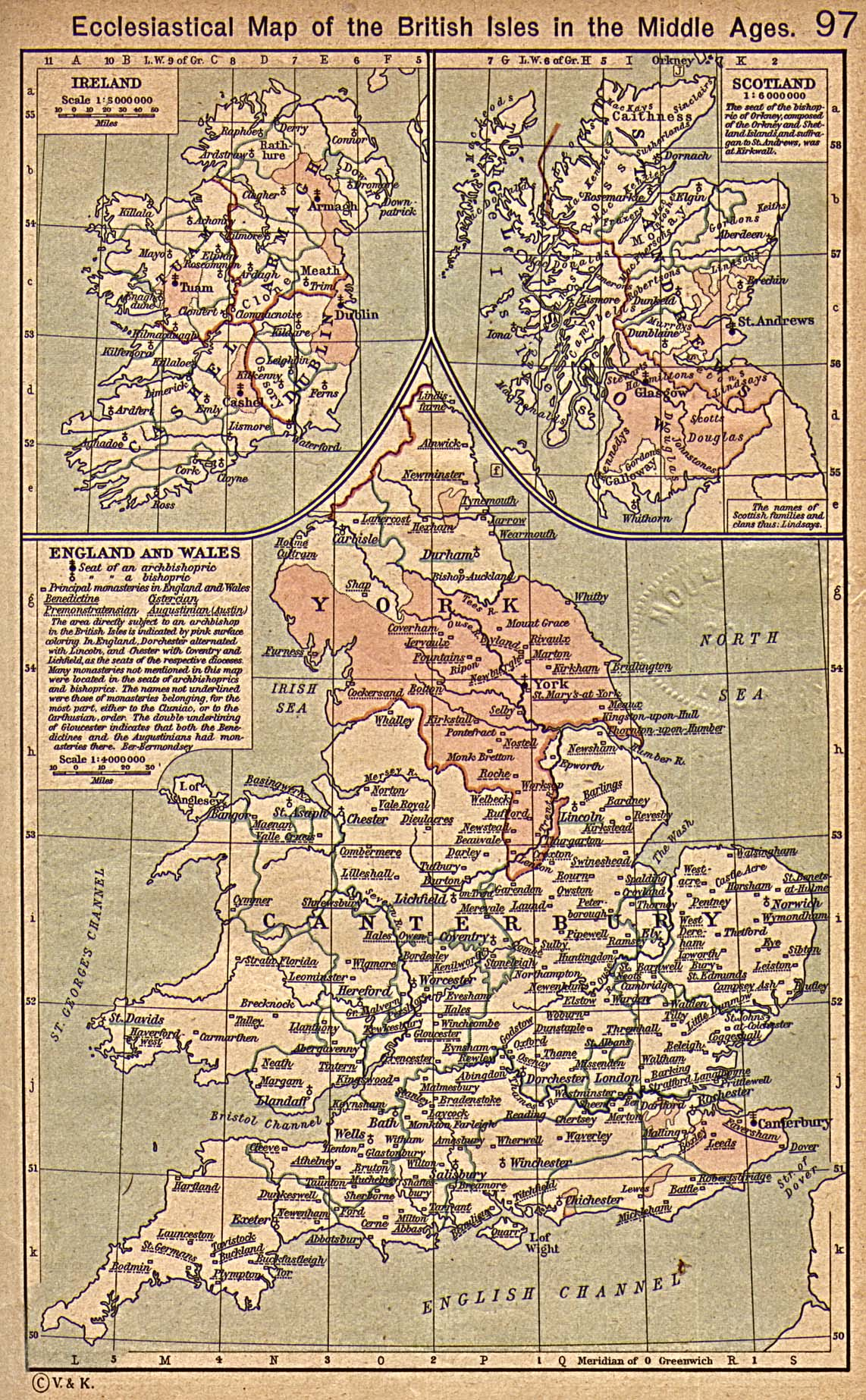 Magoo ireland by hugh mcgough ecclesiastical map of the british isles in the middle ages sciox Images