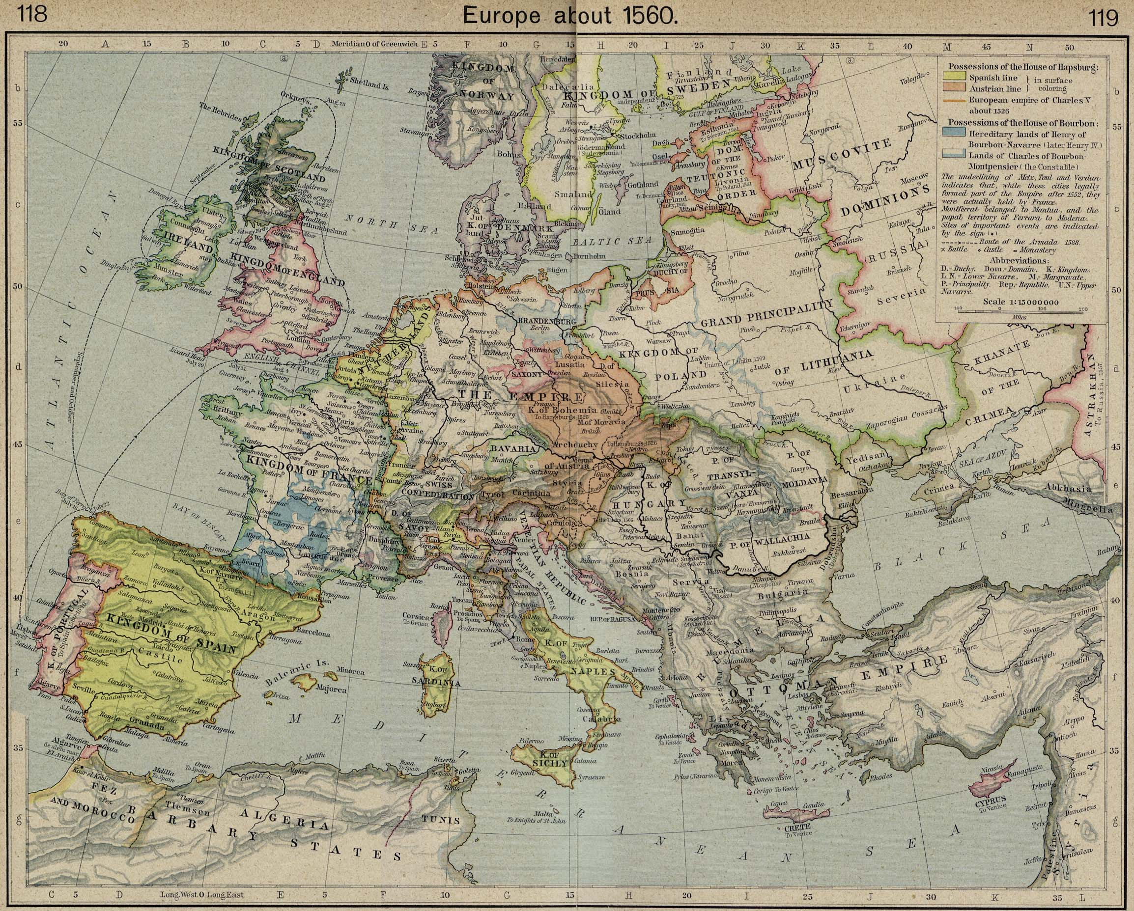 Map Of France 1500.Whkmla Historical Atlas Europe 1500 1815