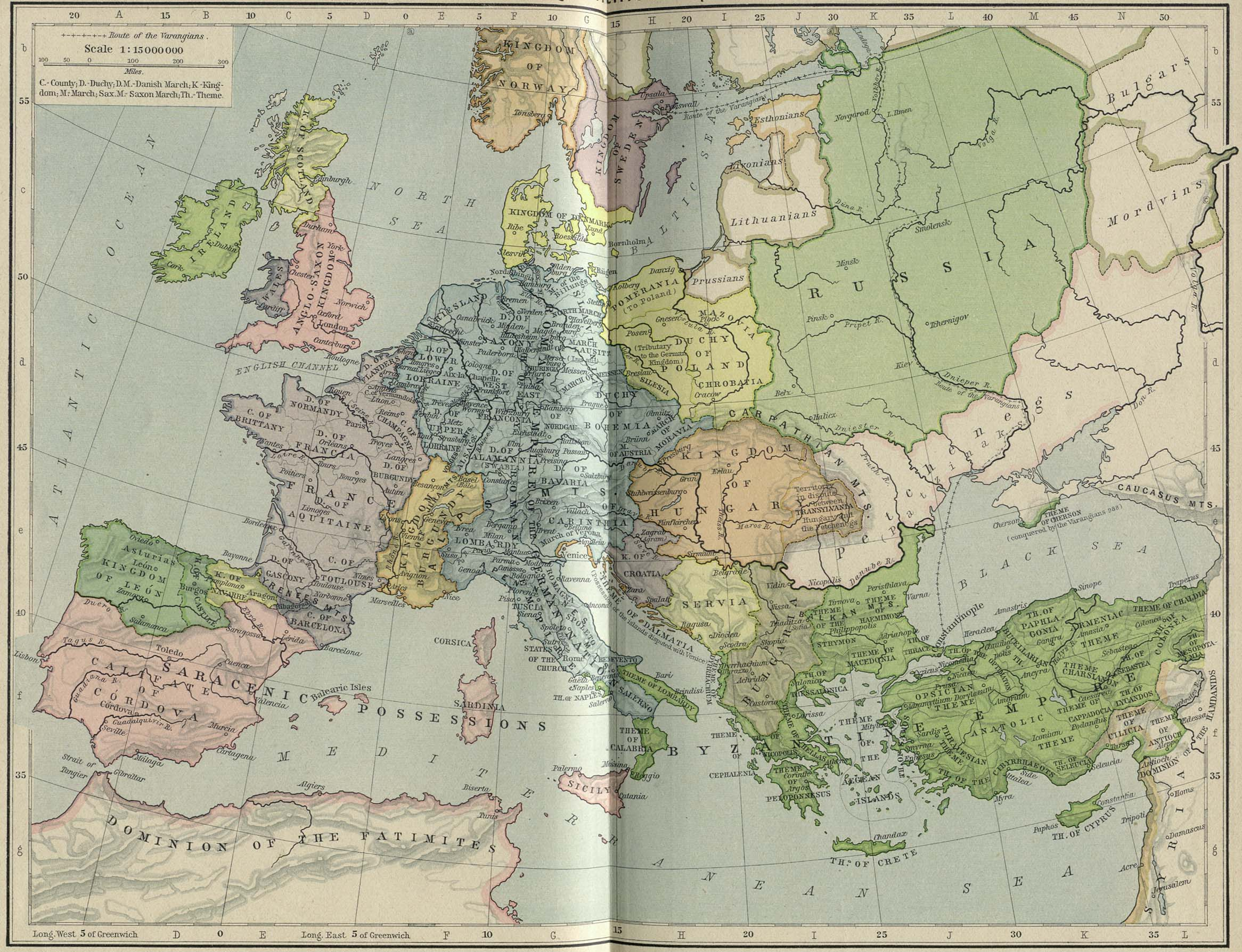 Historical maps of europe 1000 william gumiabroncs Image collections