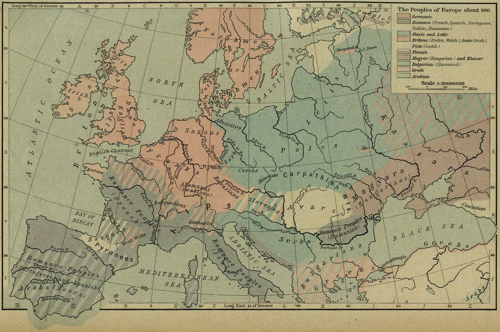Map Of Europe In 1000.Historical Maps Of Europe