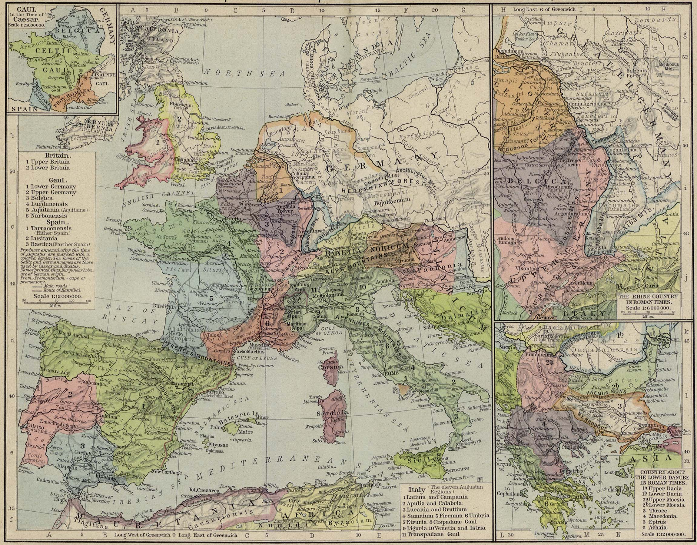 Historical atlas by william r shepherd perry castaeda map reference map of the european provinces of the roman empire gumiabroncs Images