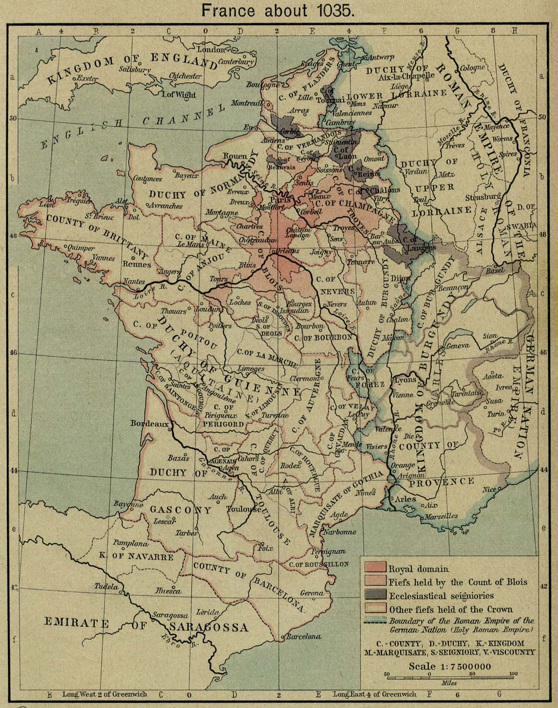 Map Of France 1500.Historical Maps Of France