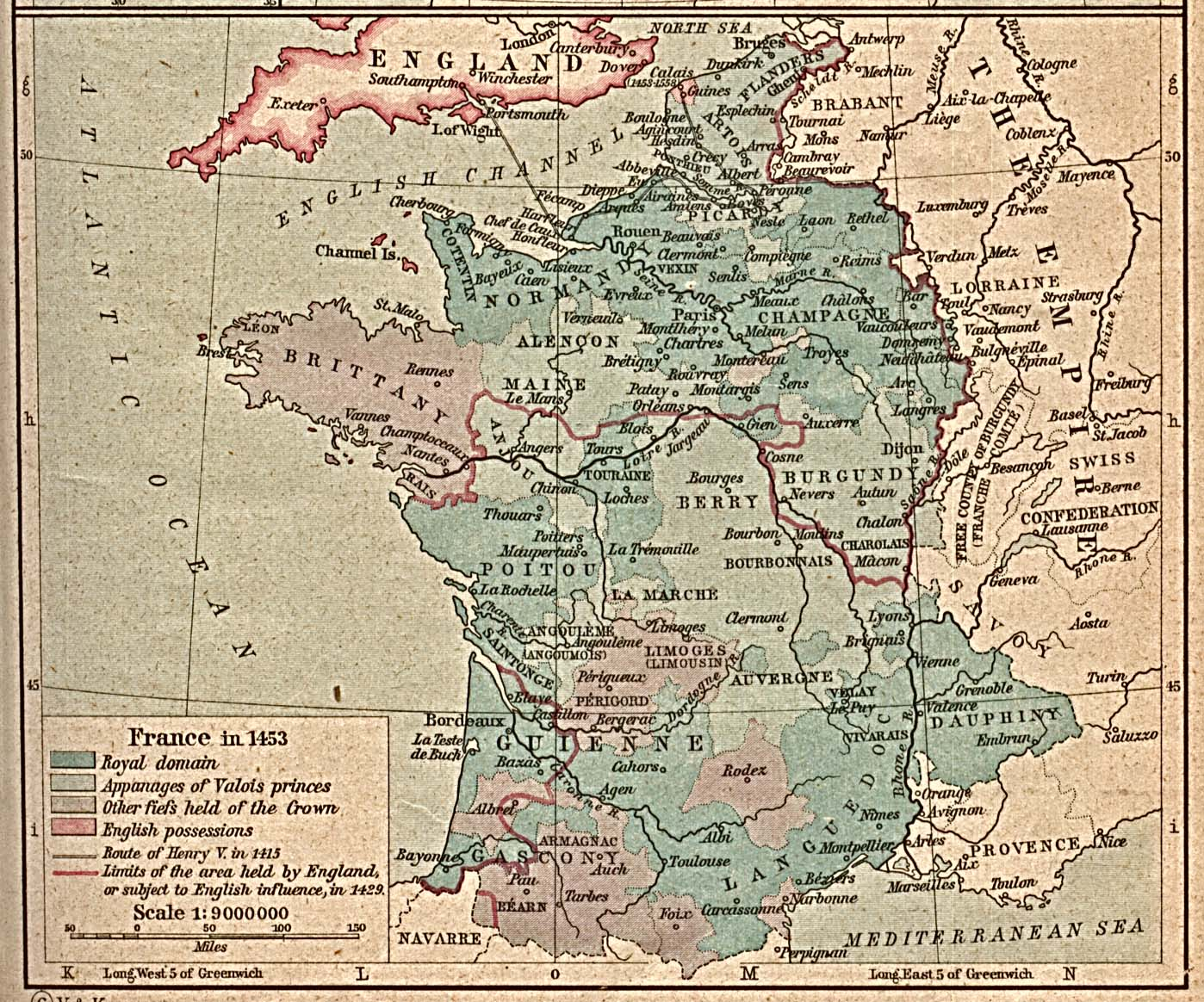 Whkmla historical atlas france page france in 1453 gumiabroncs Image collections