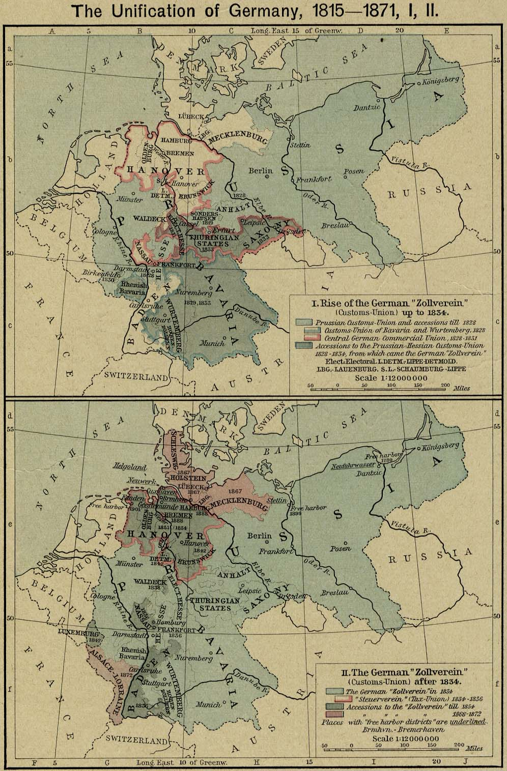 Map Of Germany Pre Unification.German Unification Maps Theplaz Com