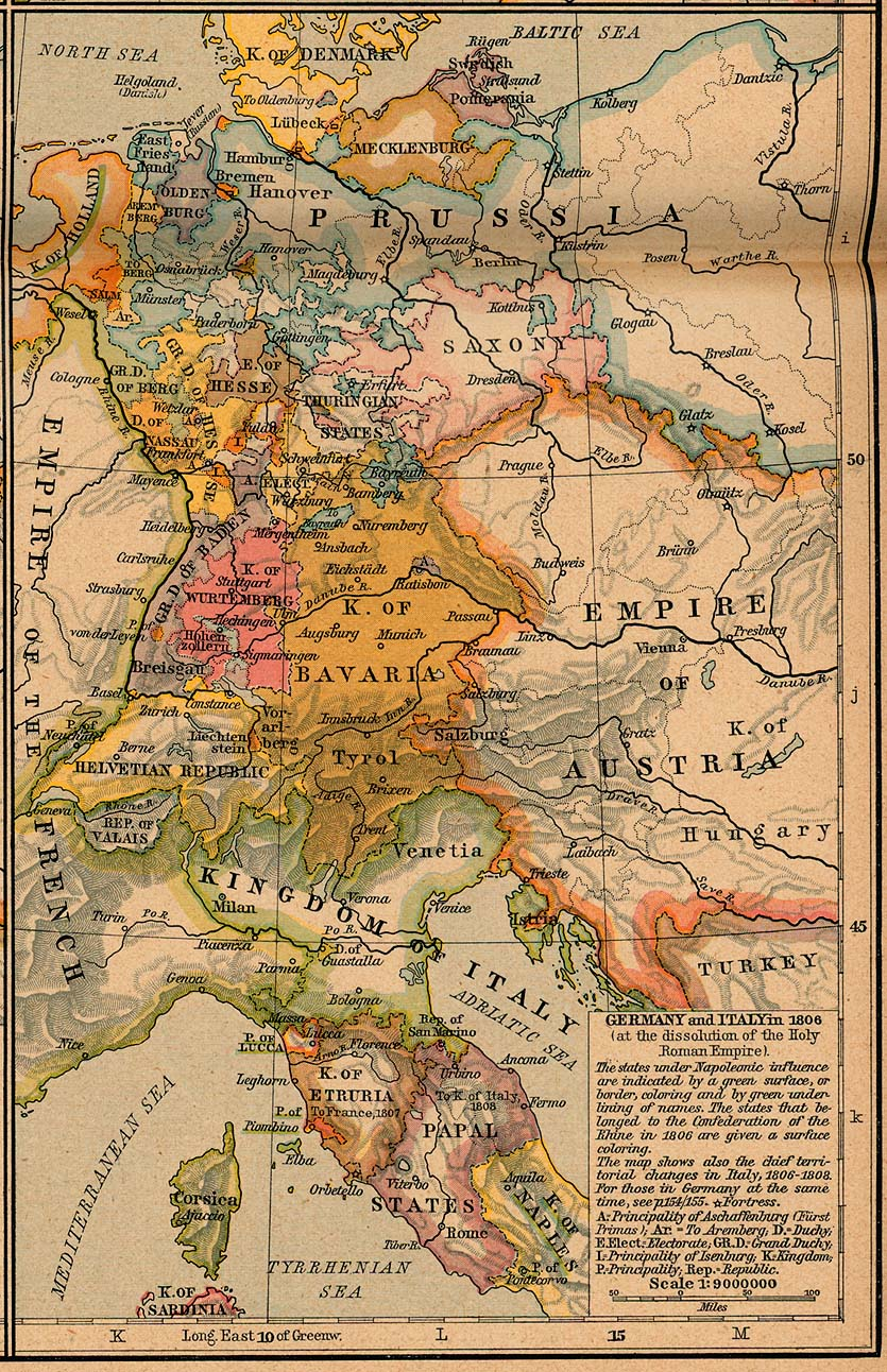 Europe historical maps perry castaeda map collection ut library germany and italy 1806 gumiabroncs Choice Image