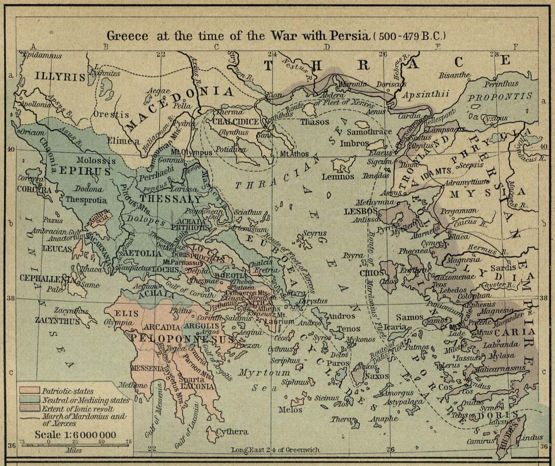 greece at the time of the war with persia 500 479 bc