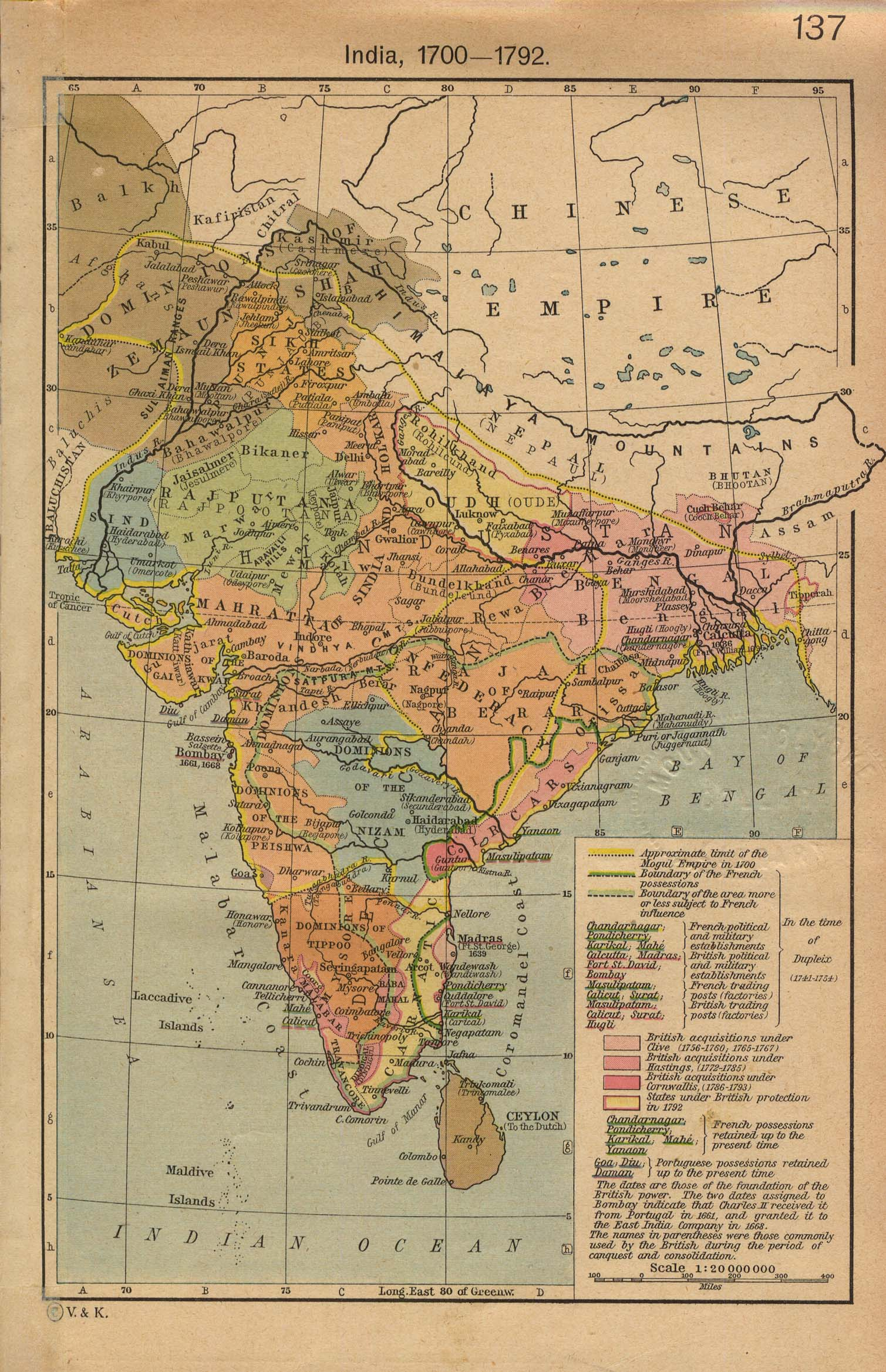 Maps of india india 1700 1792 india 1700 1792 gumiabroncs Images