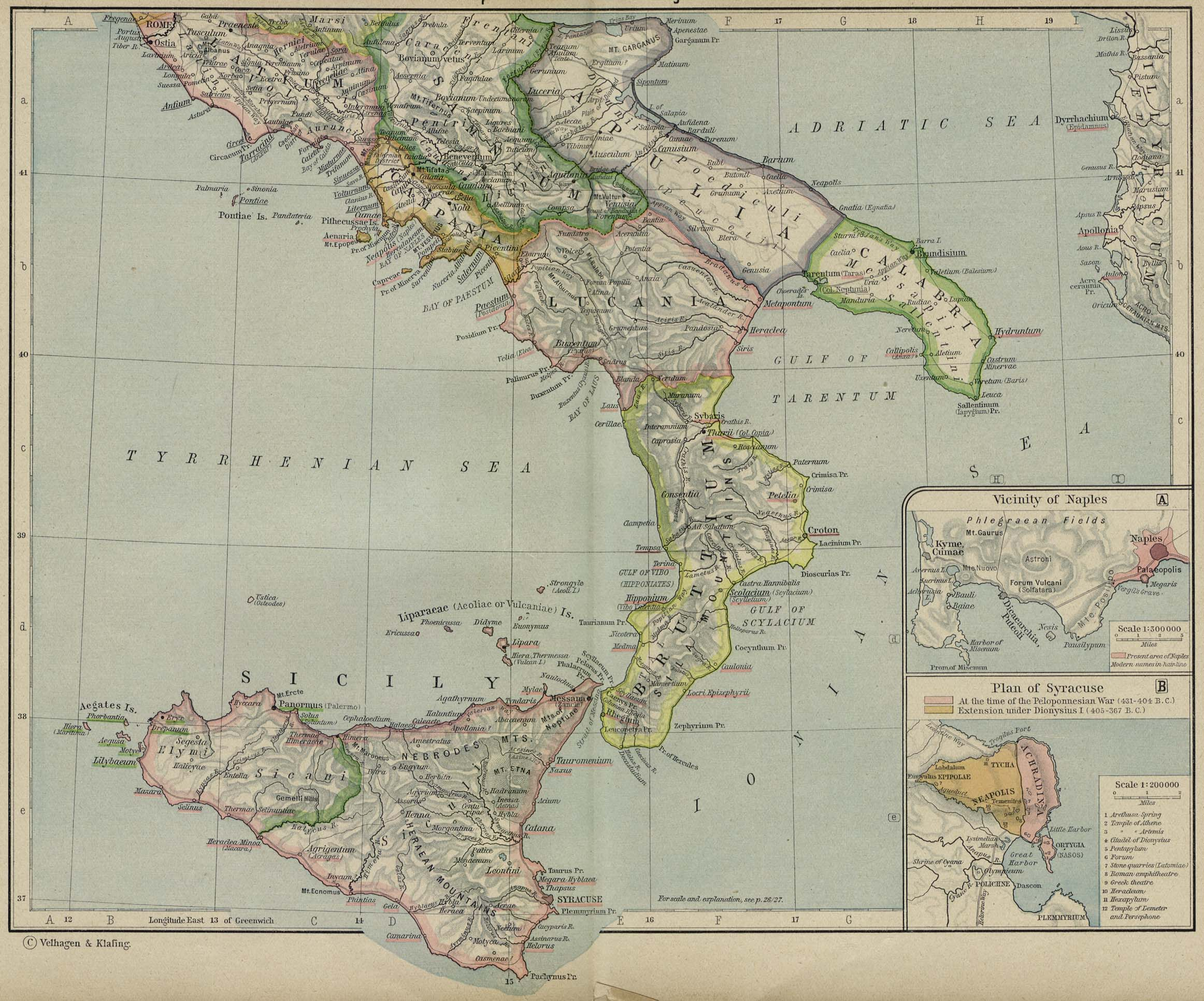 Historical atlas by william r shepherd perry castaeda map reference map of ancient italy gumiabroncs Image collections