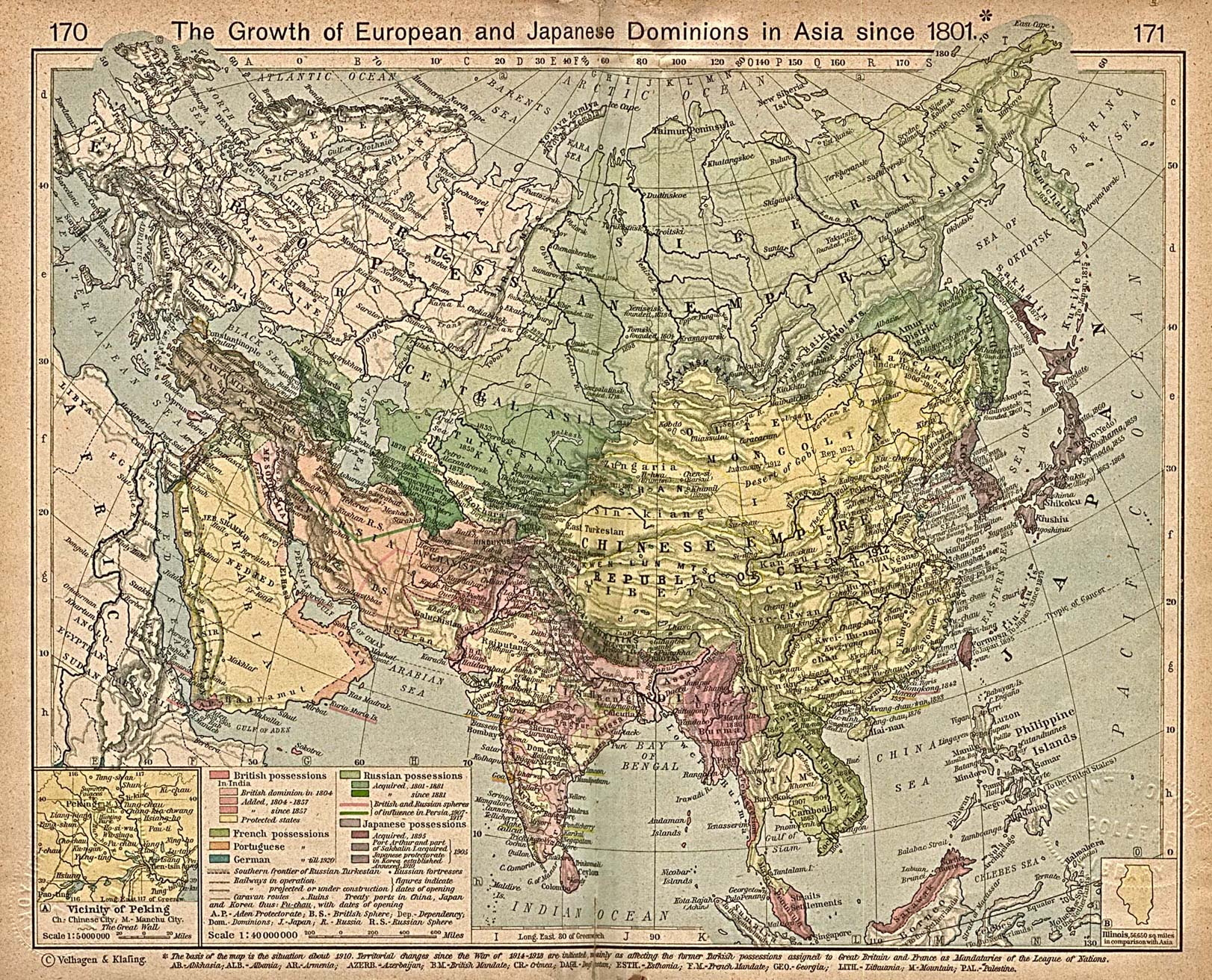 Map Of Asia Japan And China.Asia Historical Maps Perry Castaneda Map Collection Ut Library