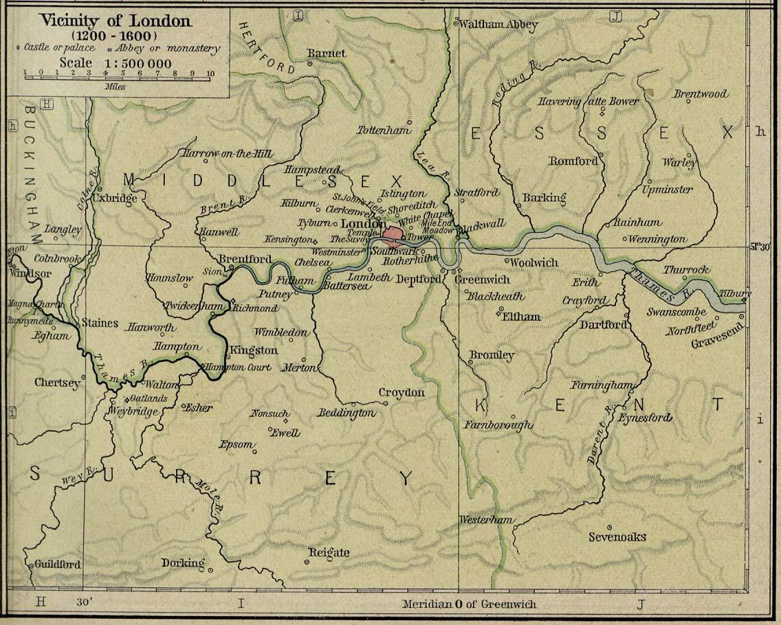 Historical Atlas By William R Shepherd PerryCastañeda Map - World map 1340 1600