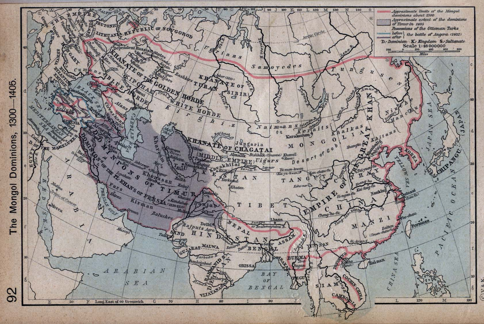 The Mongol Dominions Mapa 1300 - 1405.