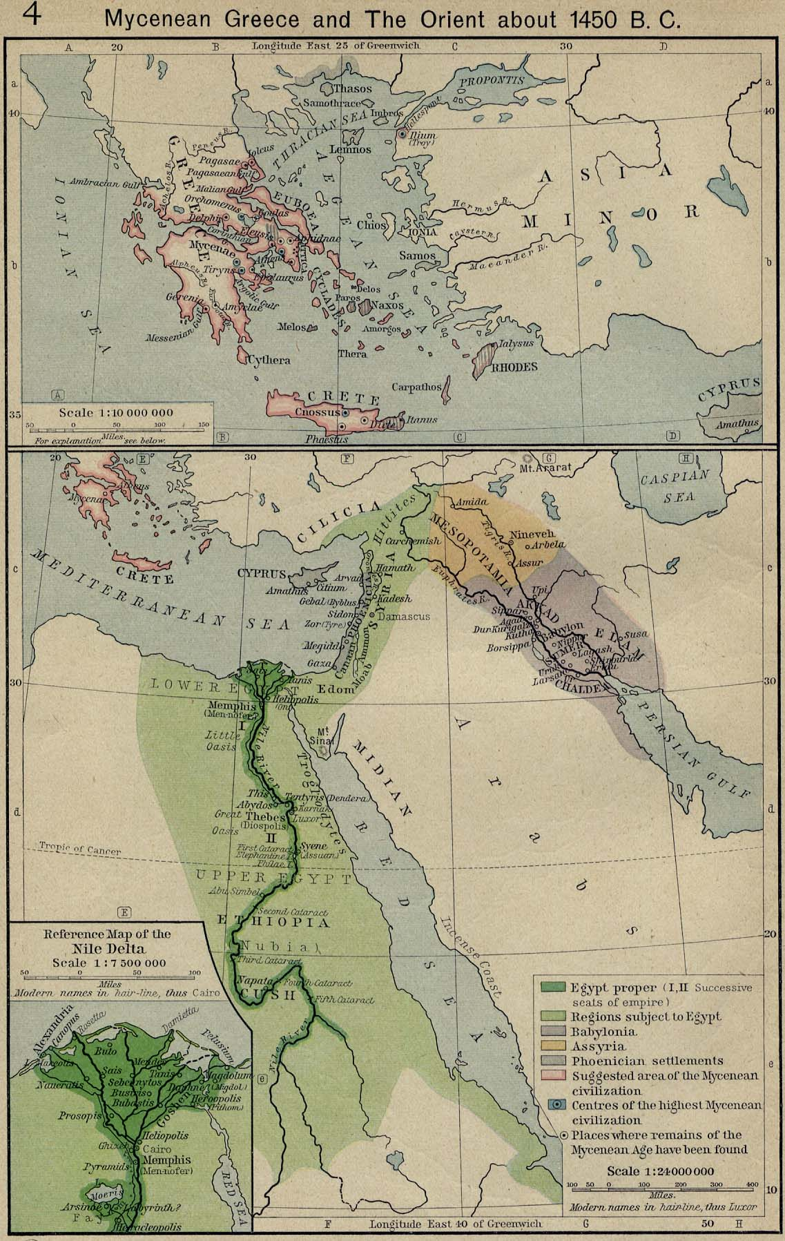 Mycenean Greece And The Orient About 1450 B C