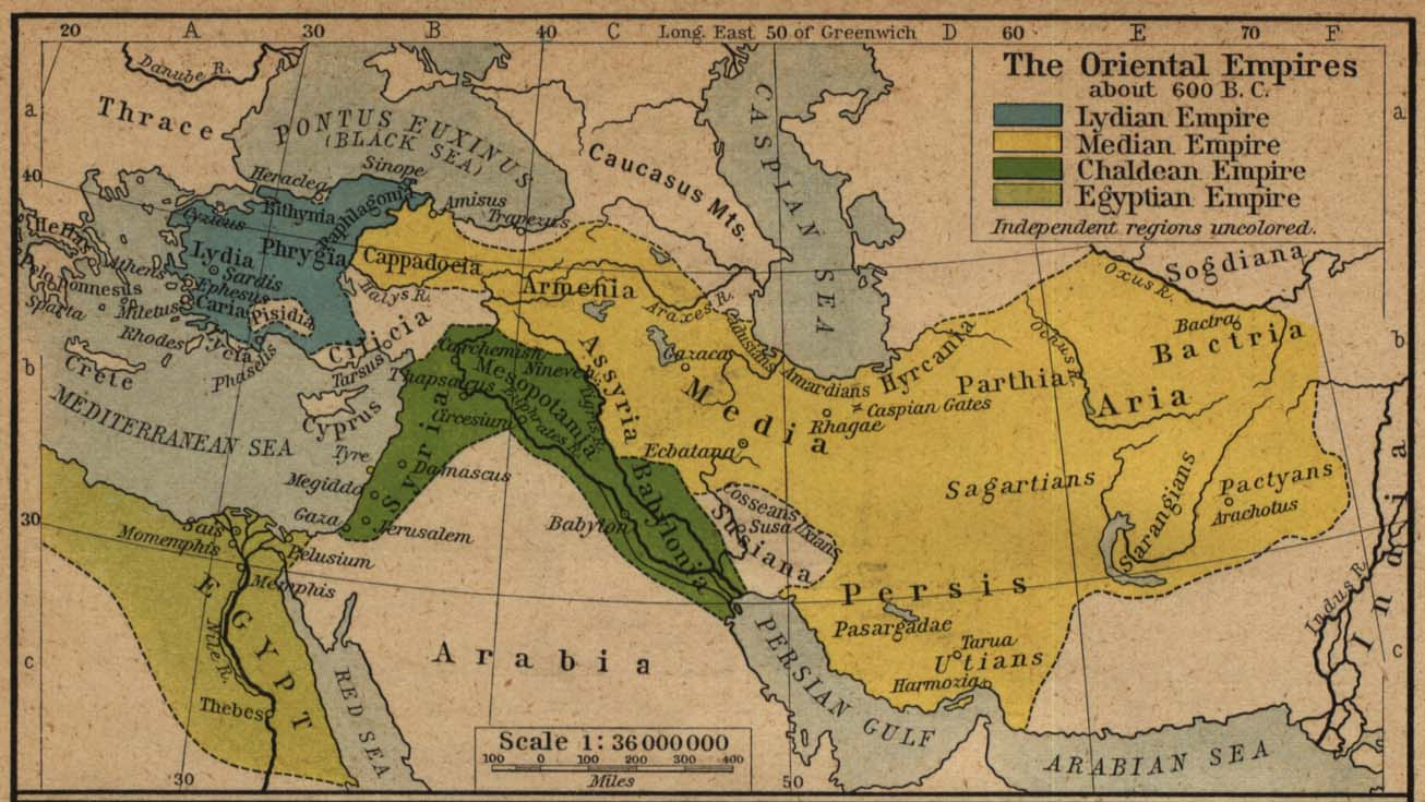 1900 Middle East Map.Middle East Historical Maps Perry Castaneda Map Collection Ut