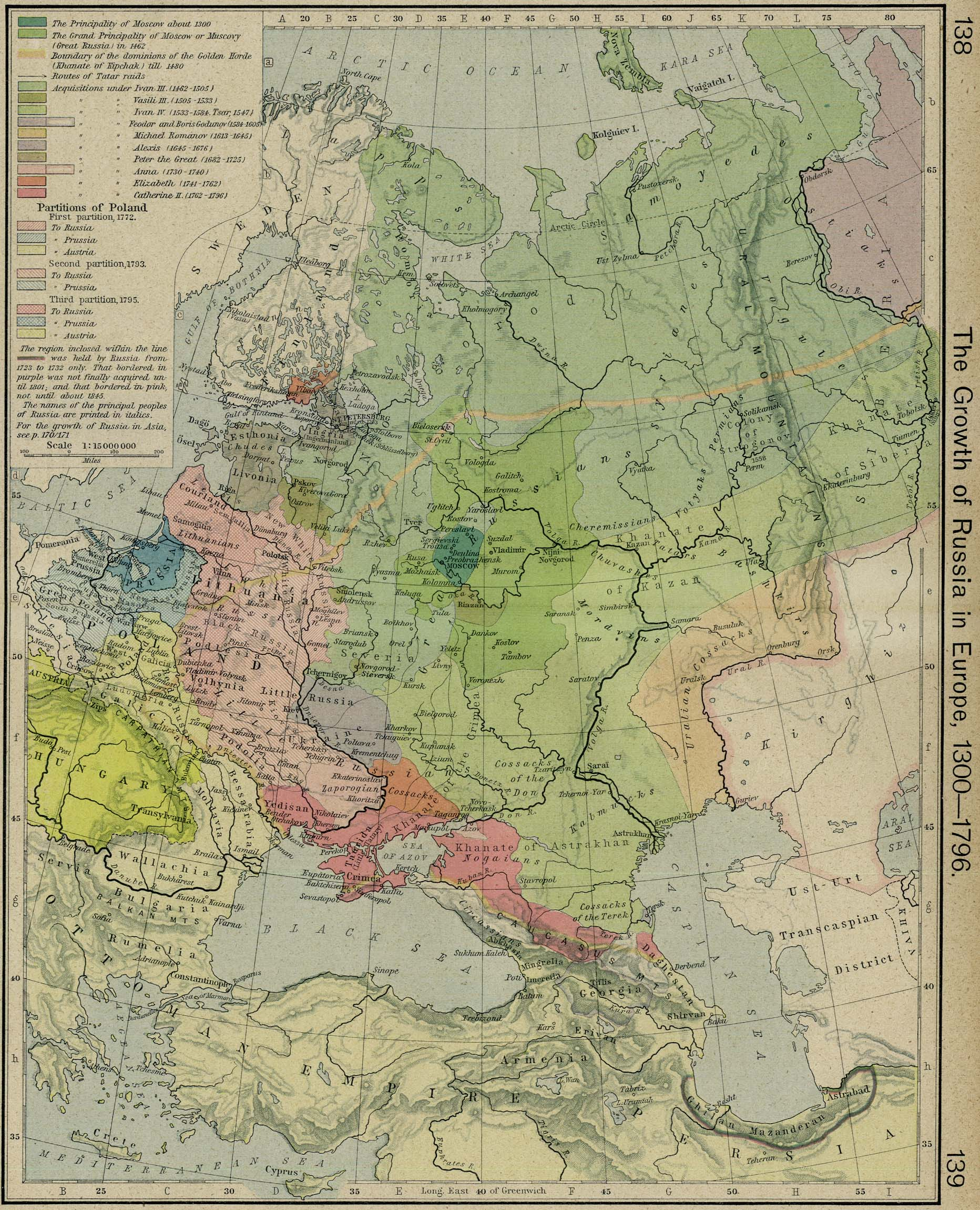 Russian Map Of Russia.Historical Maps Of Russia