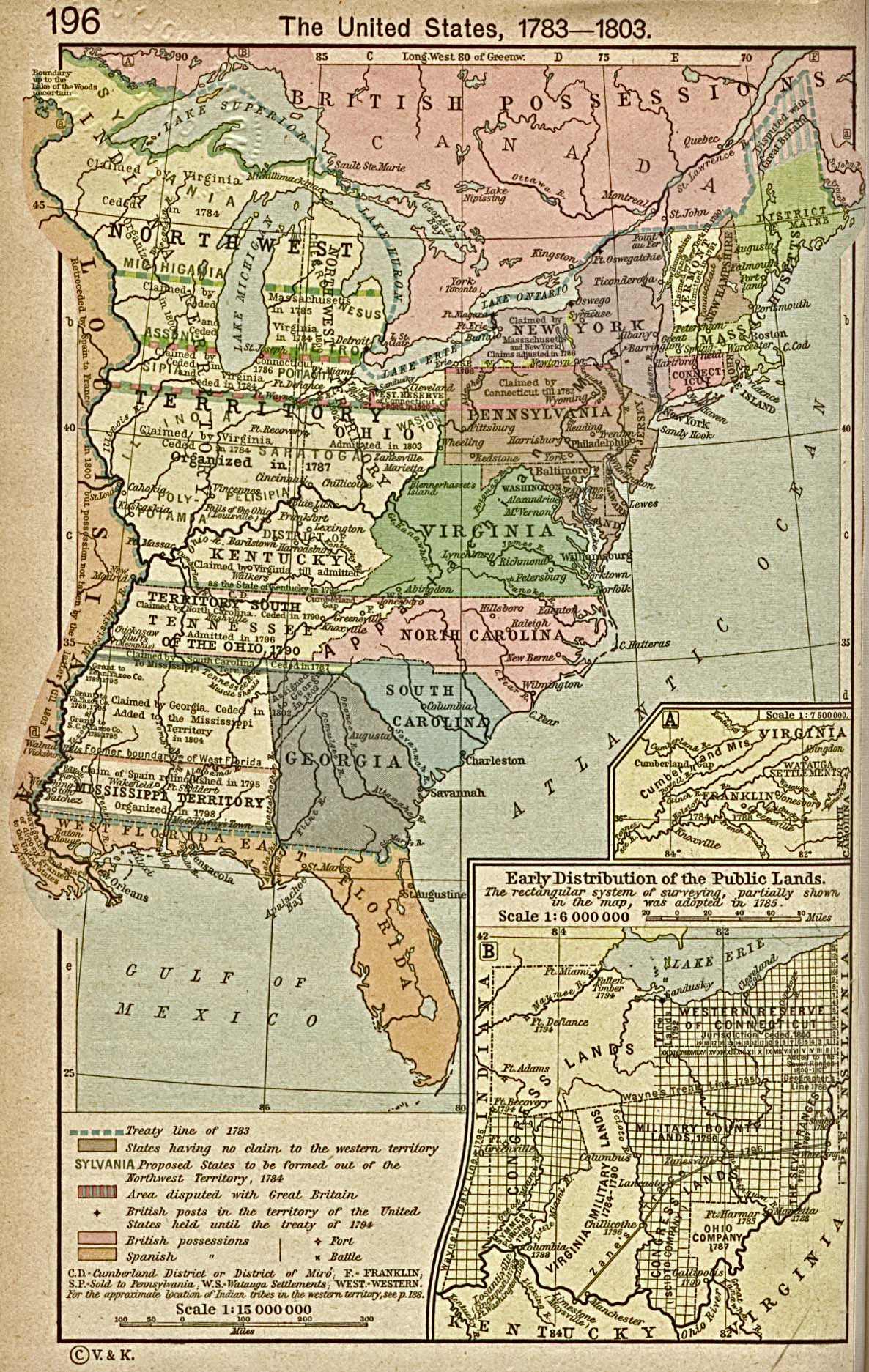 United States Historical Maps PerryCastañeda Map Collection - Us map showing states