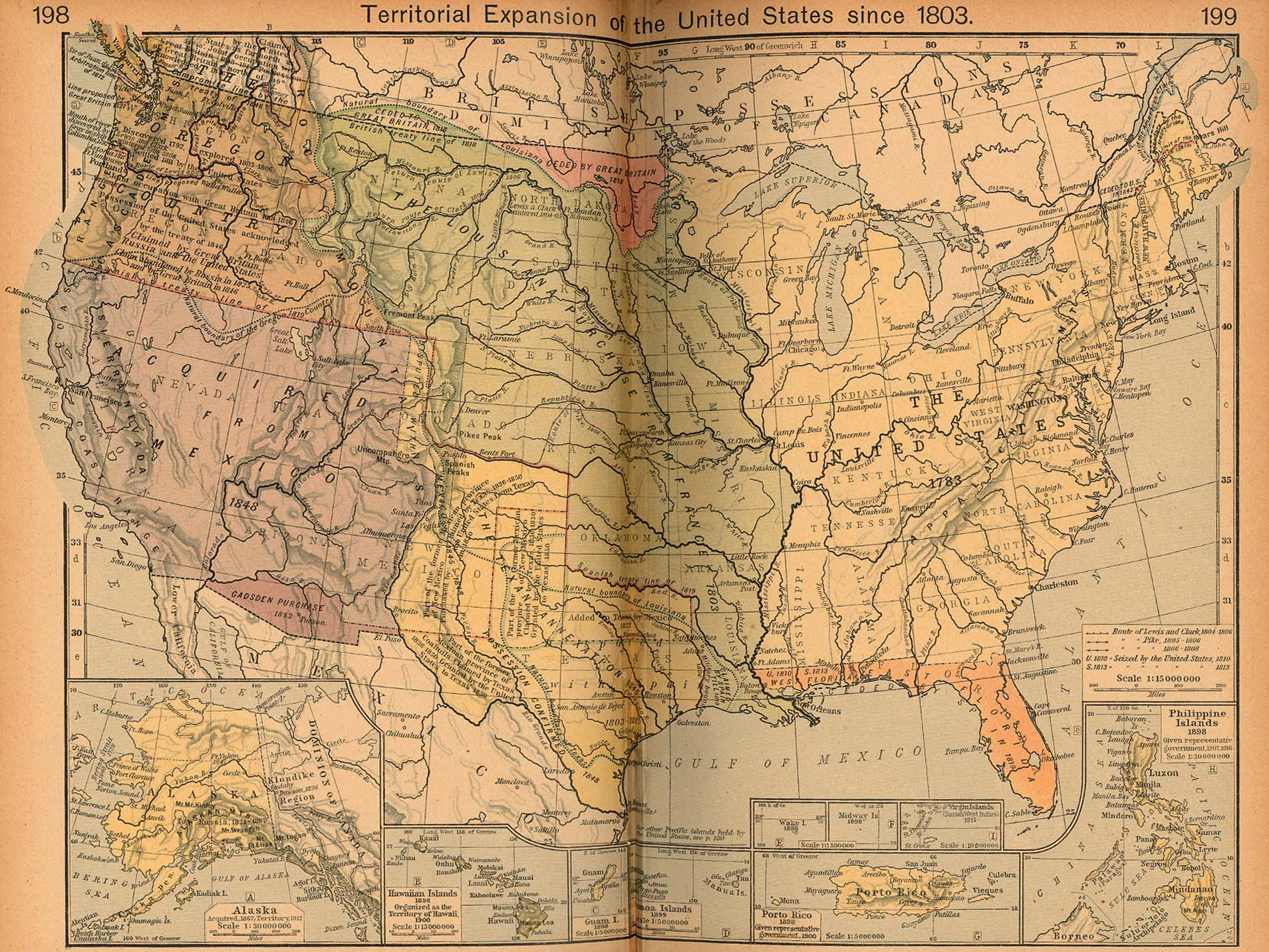 United States Map In 1803