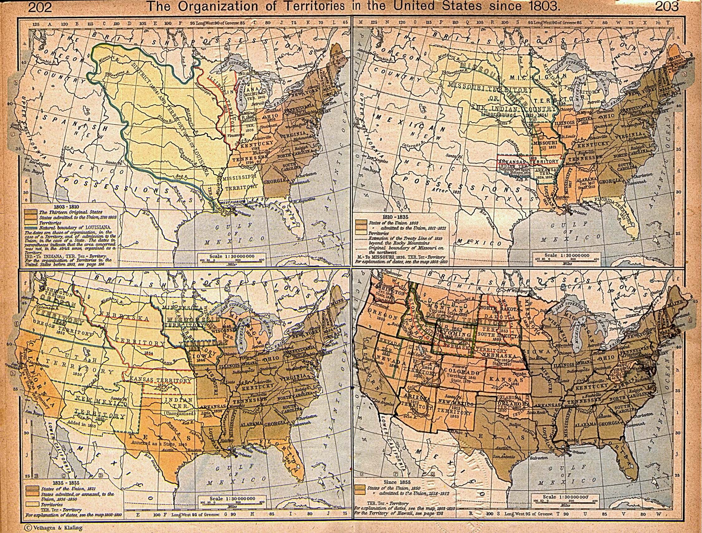 United States Historical Maps PerryCastañeda Map Collection - How old is the united states of america