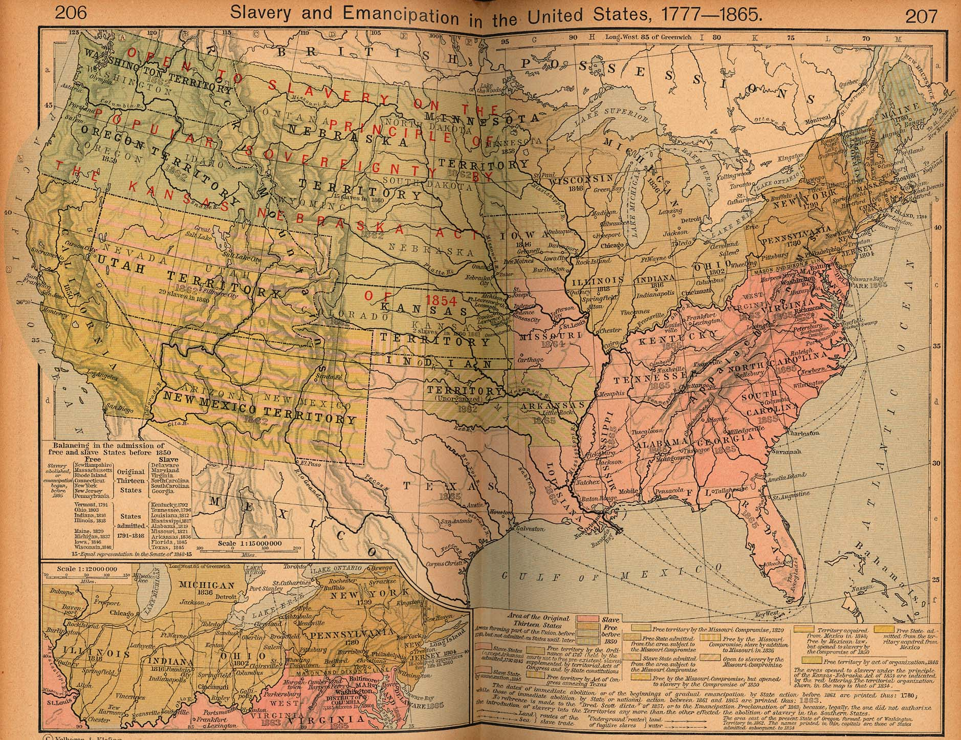 Maps United States Map During Slavery - Us slavery map
