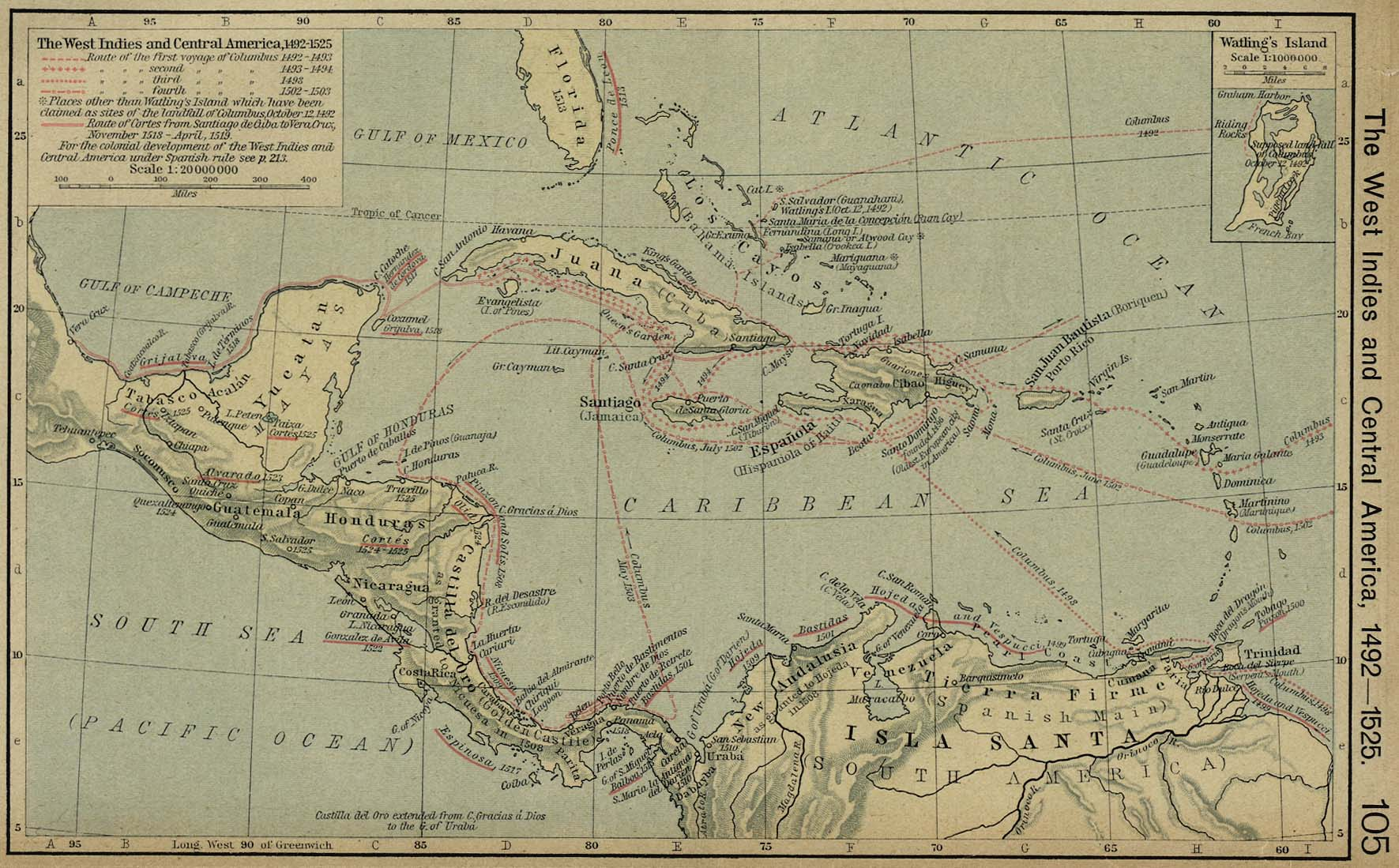 Historical atlas by william r shepherd perry castaeda map the west indies and central america gumiabroncs Gallery