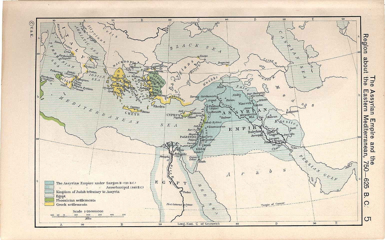 Historical atlas by william r shepherd perry castaeda map the assyrian empire and the region about the eastern mediterranean 750 625 bc gumiabroncs Choice Image