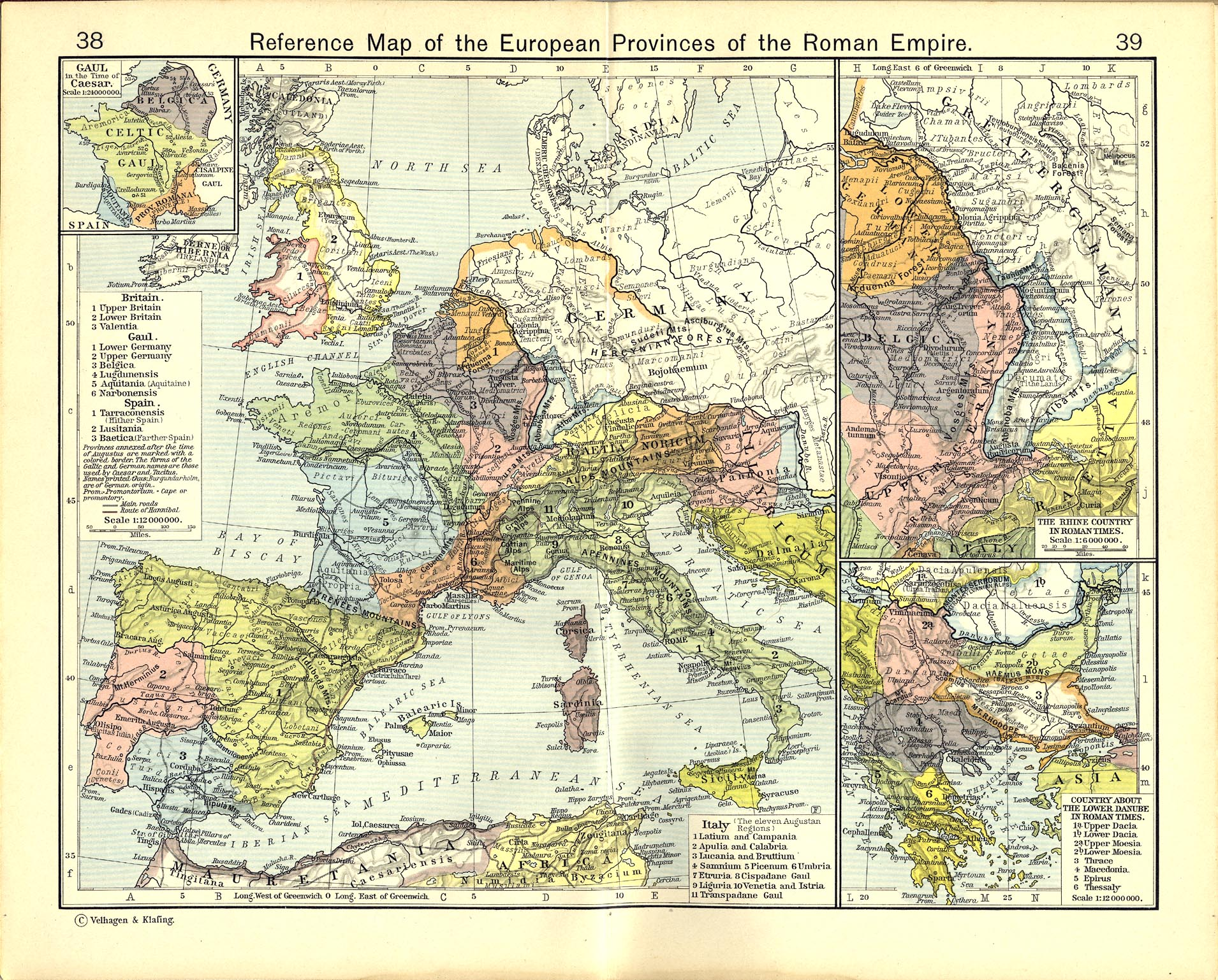 910k insets gaul in the time of caesar the rhine country in roman