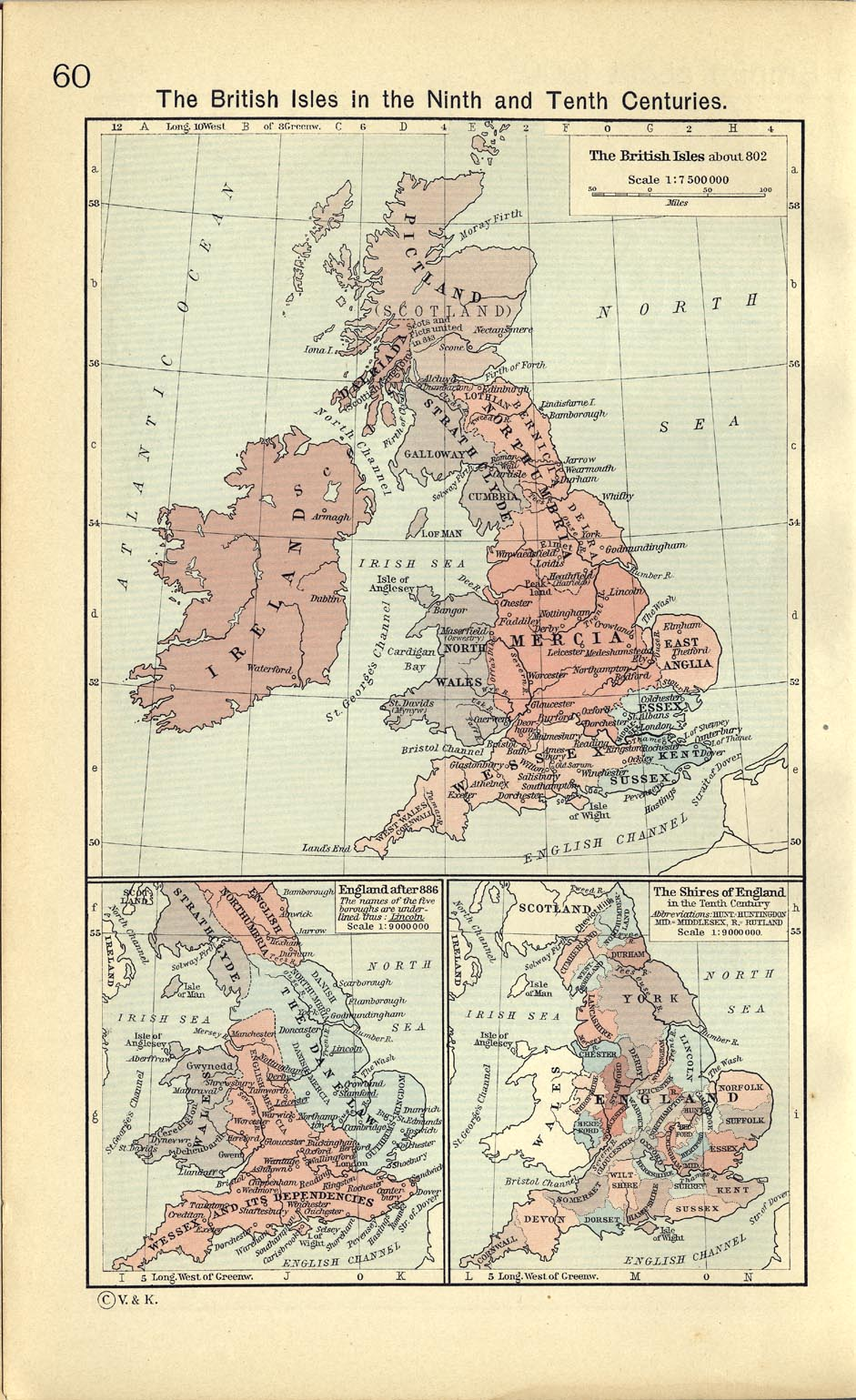 Map Of England 1100.United Kingdom Maps Perry Castaneda Map Collection Ut Library Online