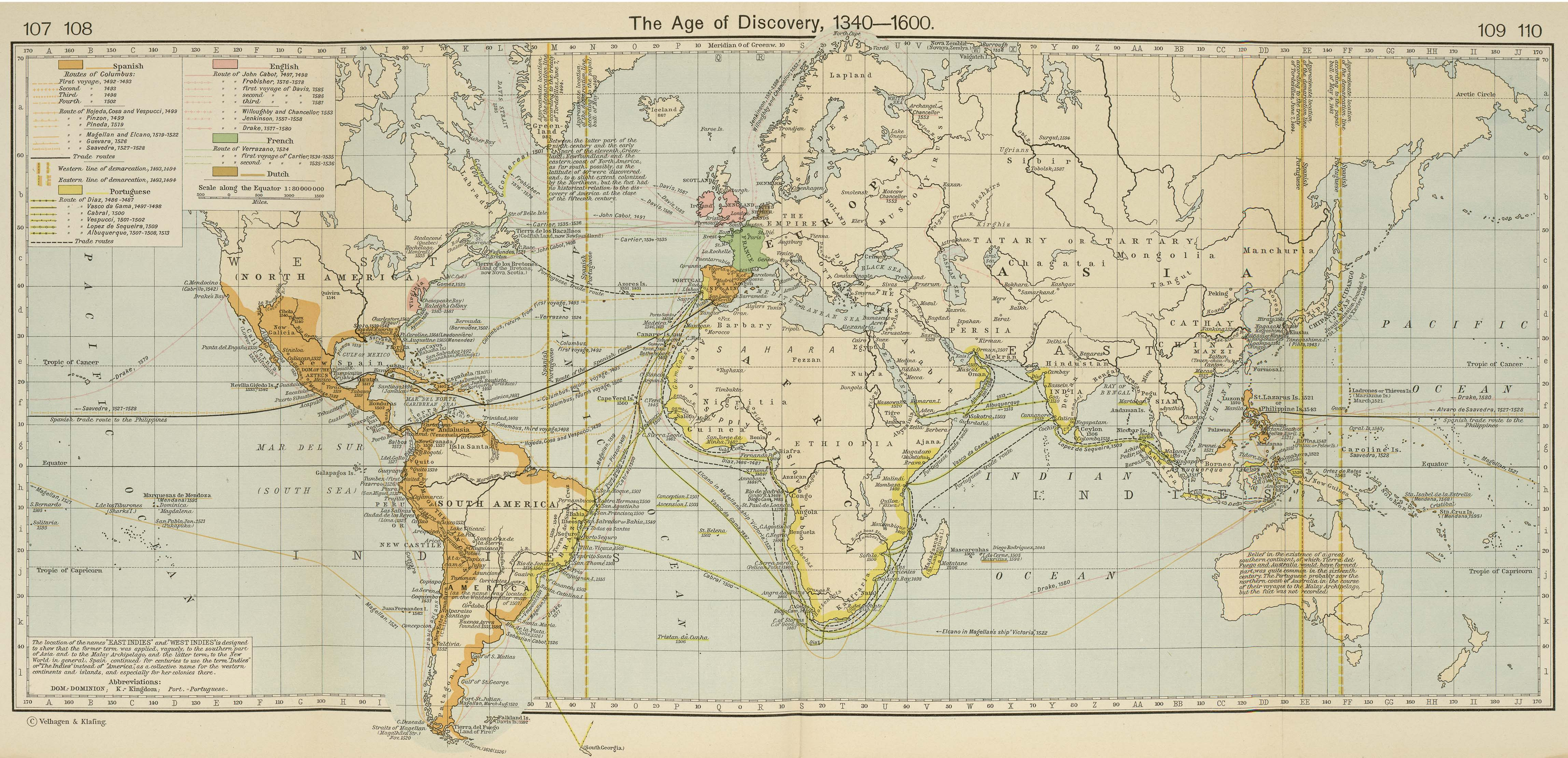 World historical maps perry castaeda map collection ut library the age of discovery 1340 1600 gumiabroncs Images
