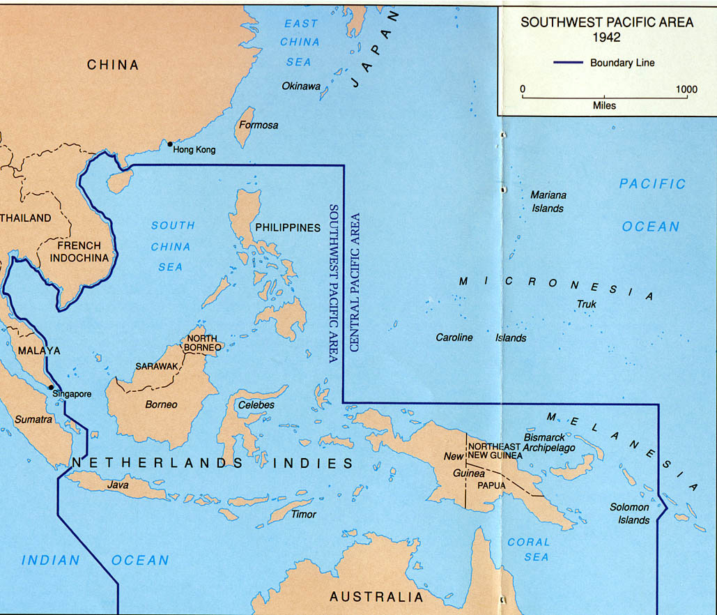 World war ii maps perry castaeda map collection ut library online southwest pacific area gumiabroncs Image collections