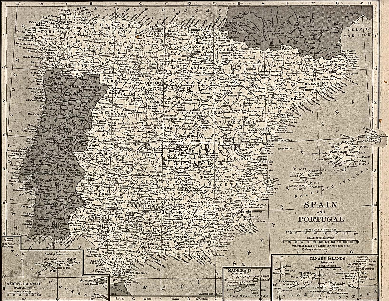 Spain Maps Perry Castaneda Map Collection Ut Library Online