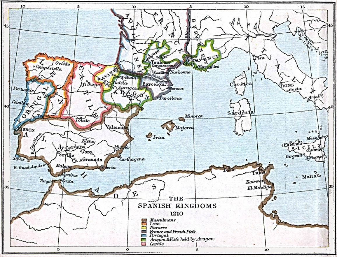 Maps Of The Spanish Kingdoms AD AD Perry - Portugal map 1500
