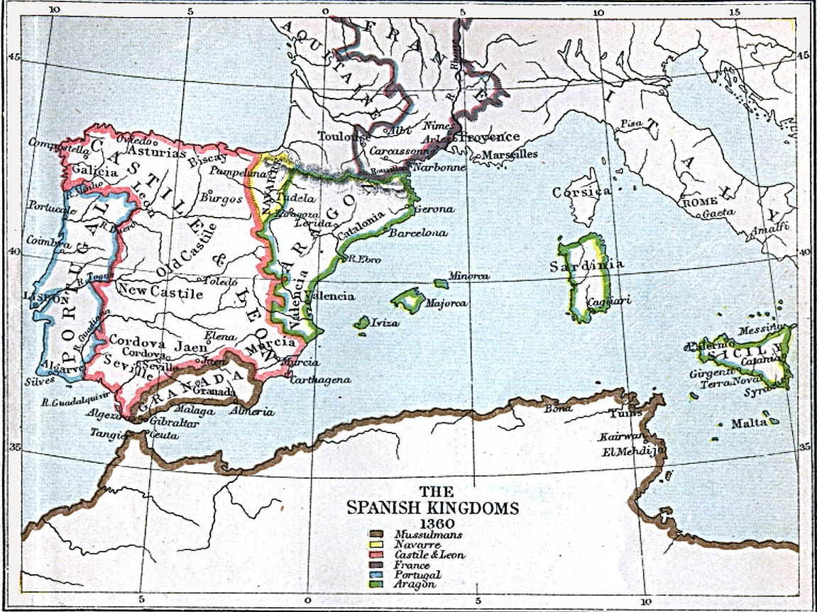 Maps Of The Spanish Kingdoms AD AD Perry - Spain historical map