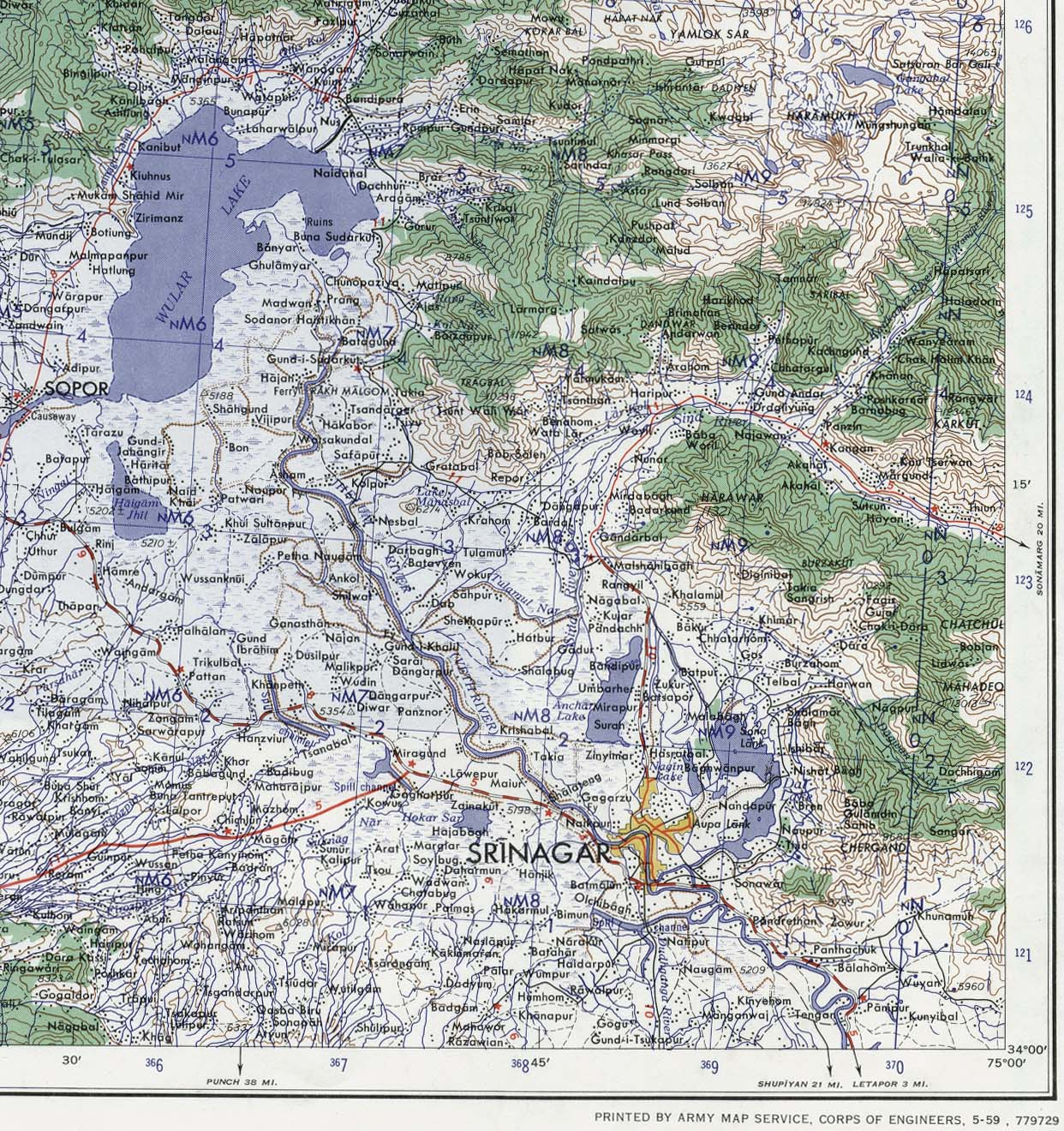 Kashmir Maps Perry Castaneda Map Collection Ut Library Online - Us-army-maps-india