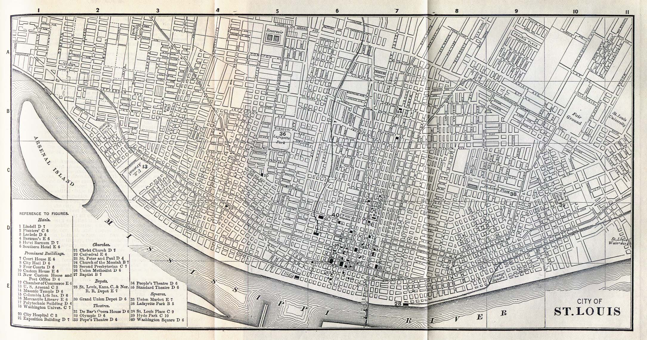 1Up Travel - Historical Maps of U.S Cities.Saint Louis ...