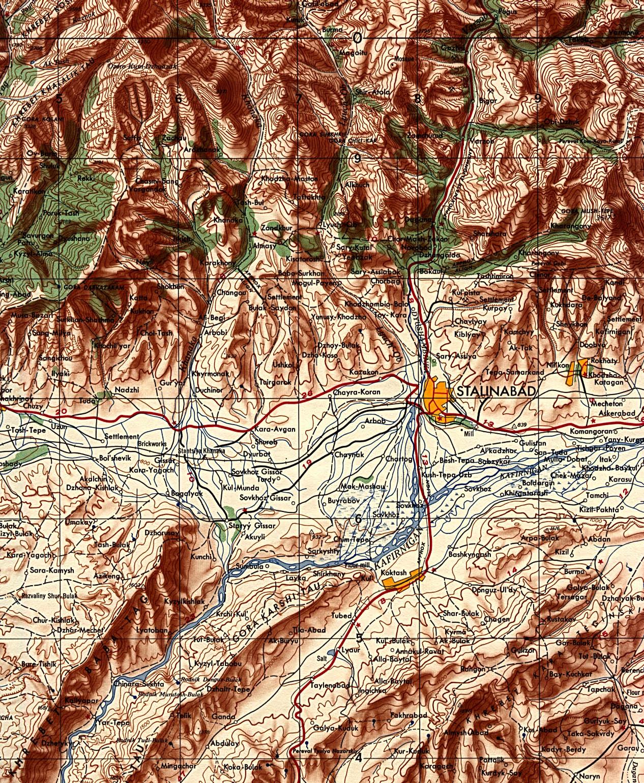 Stalinabad U S S R Current Dushanbe Tajikistan 1956