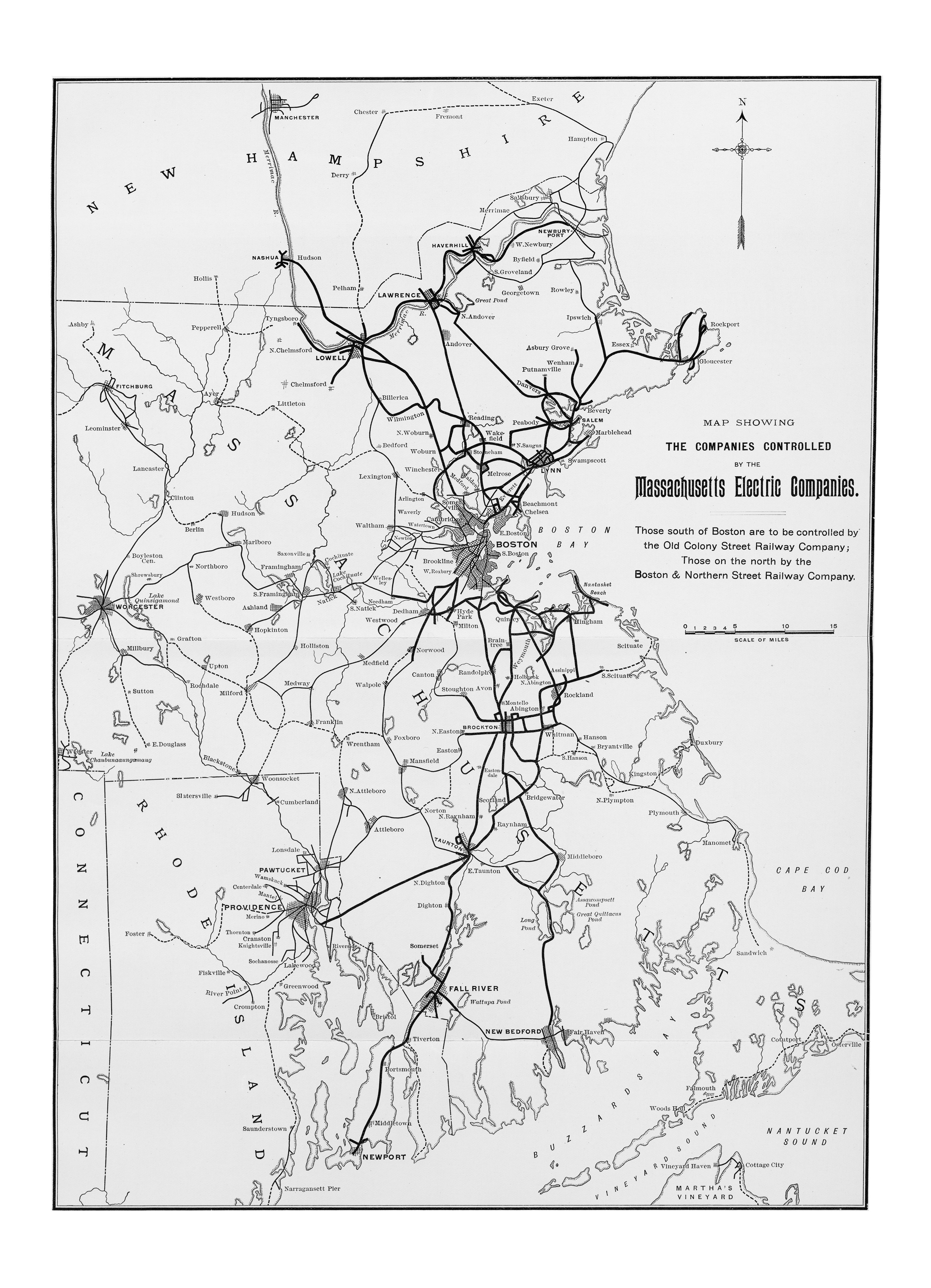 McGraw Electric Railway Manual PerryCastañeda Map Collection - Map of boston vicinity