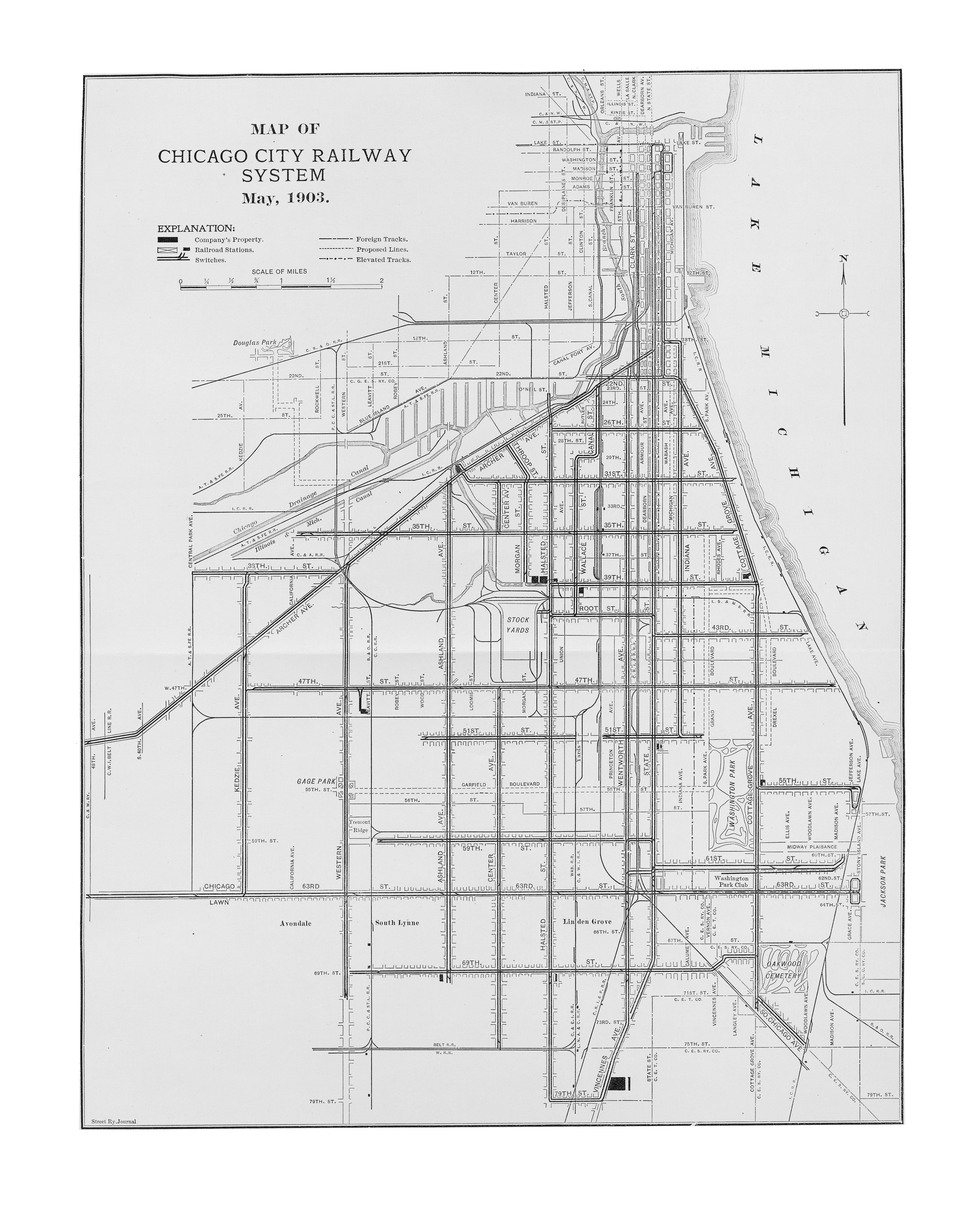 McGraw Electric Railway Manual PerryCastañeda Map Collection - Chicago map artwork