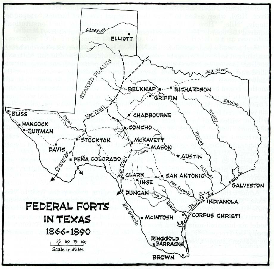 Texas Forts Map