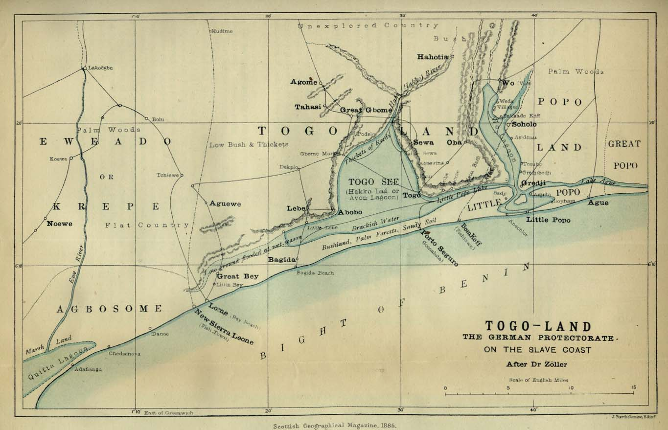 togo south africa map