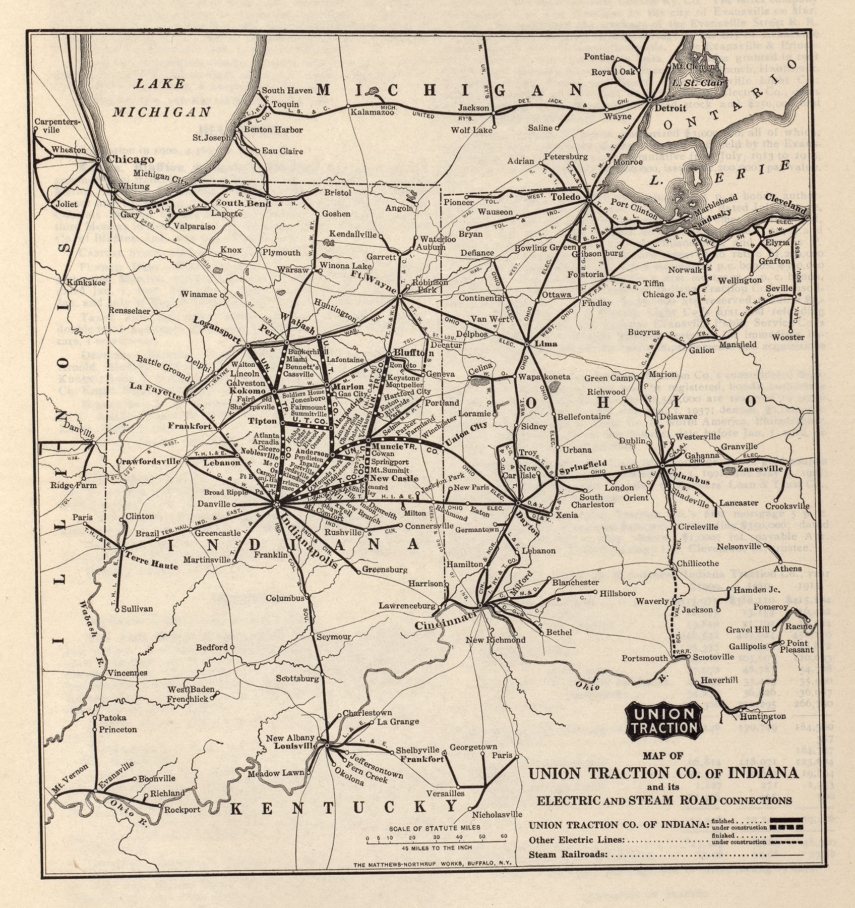McGraw Electric Railway Manual PerryCastañeda Map Collection - Indiana road map with cities