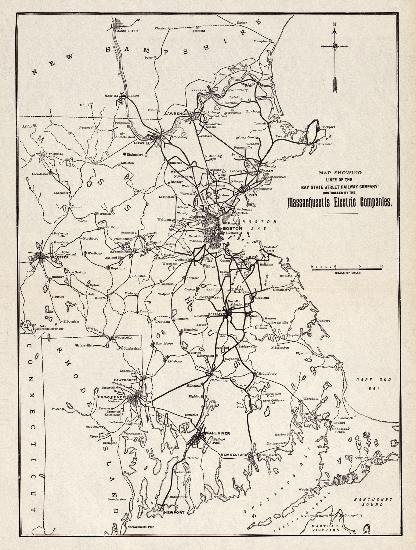 McGraw Electric Railway Manual PerryCastañeda Map Collection - New york to boston rail on map of us