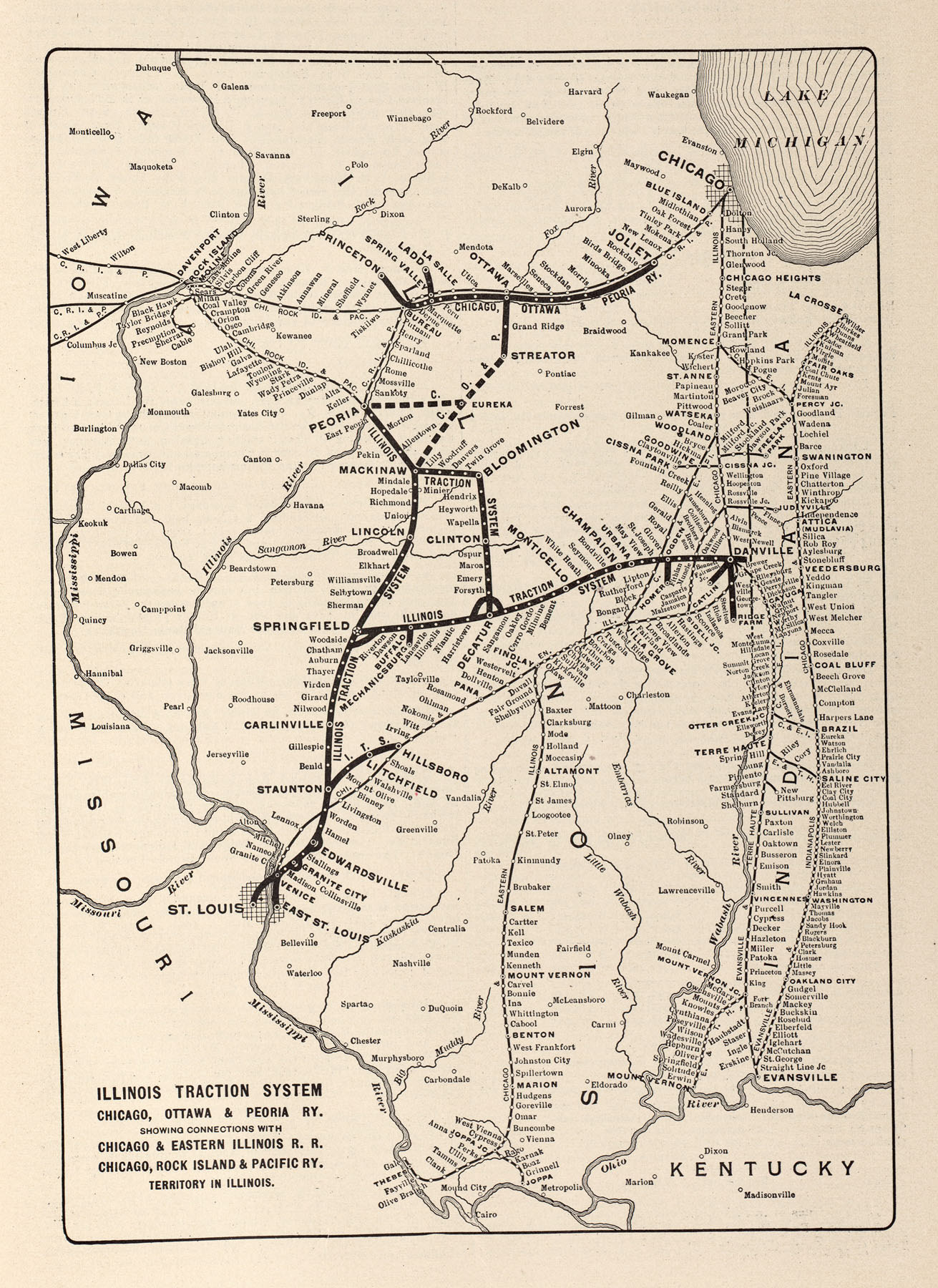 McGraw Electric Railway Manual PerryCastañeda Map Collection - Us railway system map