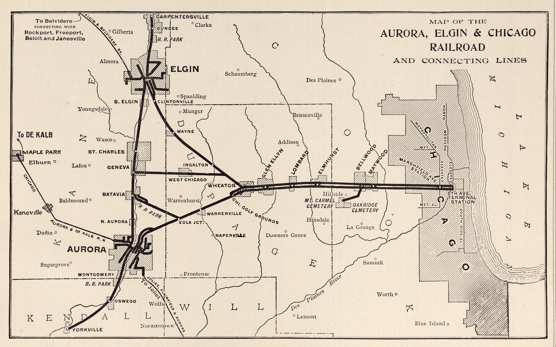 McGraw Electric Railway Manual PerryCastañeda Map Collection - Chicago map of trains