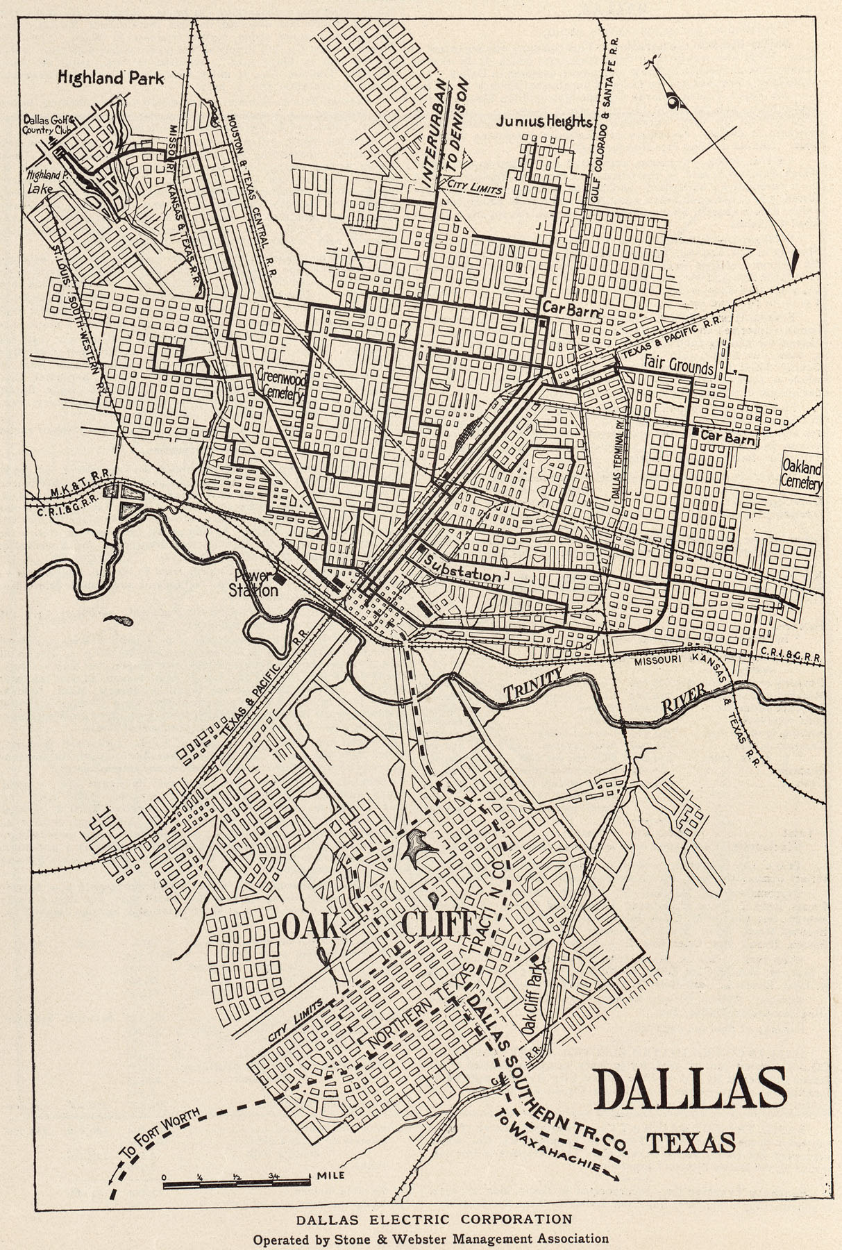 Old Dallas Map.A Guide To The History Of Dallas Texas Maps