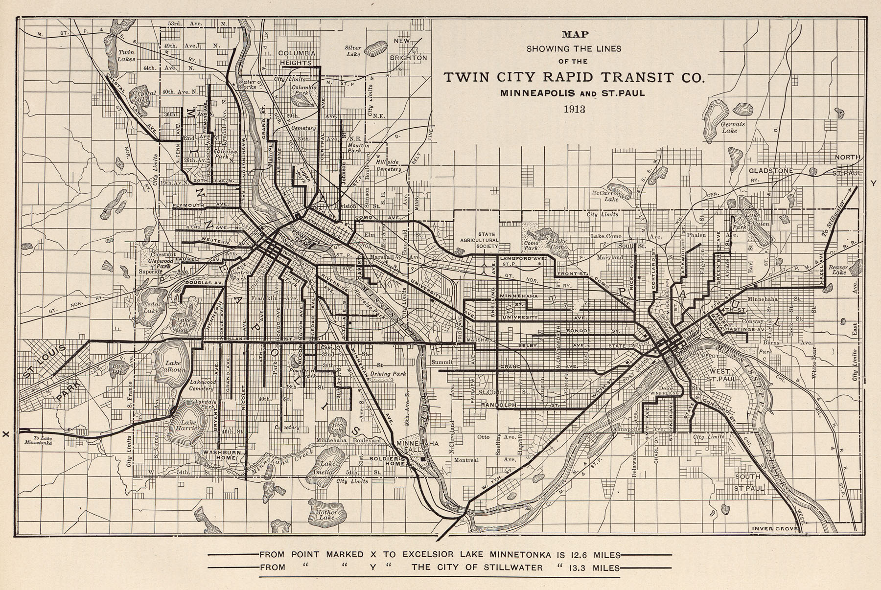 Tracks Of The Past Getting Around Minneapolis - Vintage minneapolis map