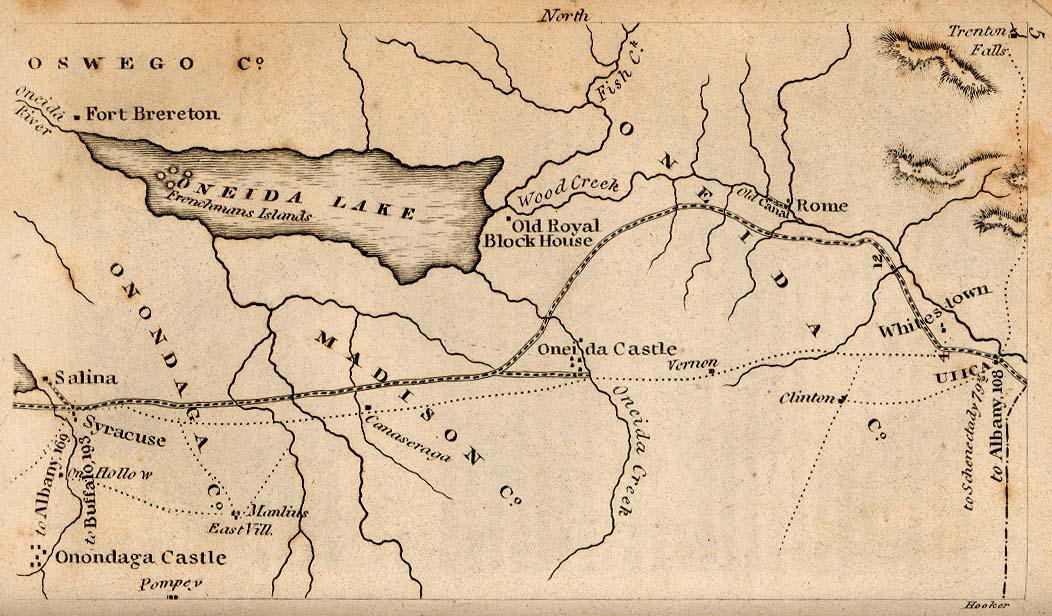 1830 Map of Utica, NY