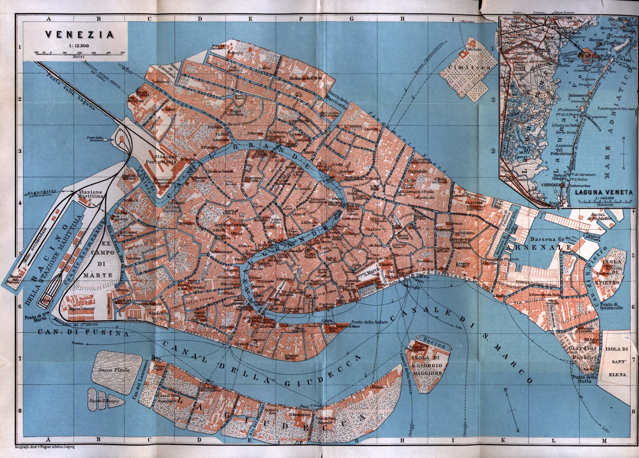 Italy - Map Of Venice Italy