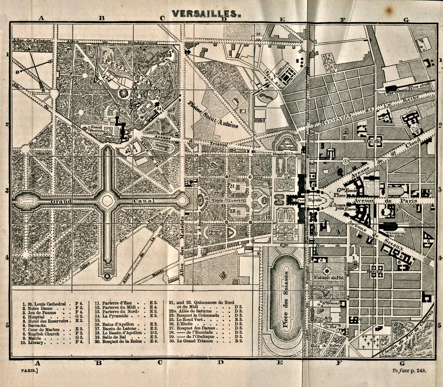 Map Of France Versailles.1up Travel Maps Of France Versailles 1866 From A Handbook For